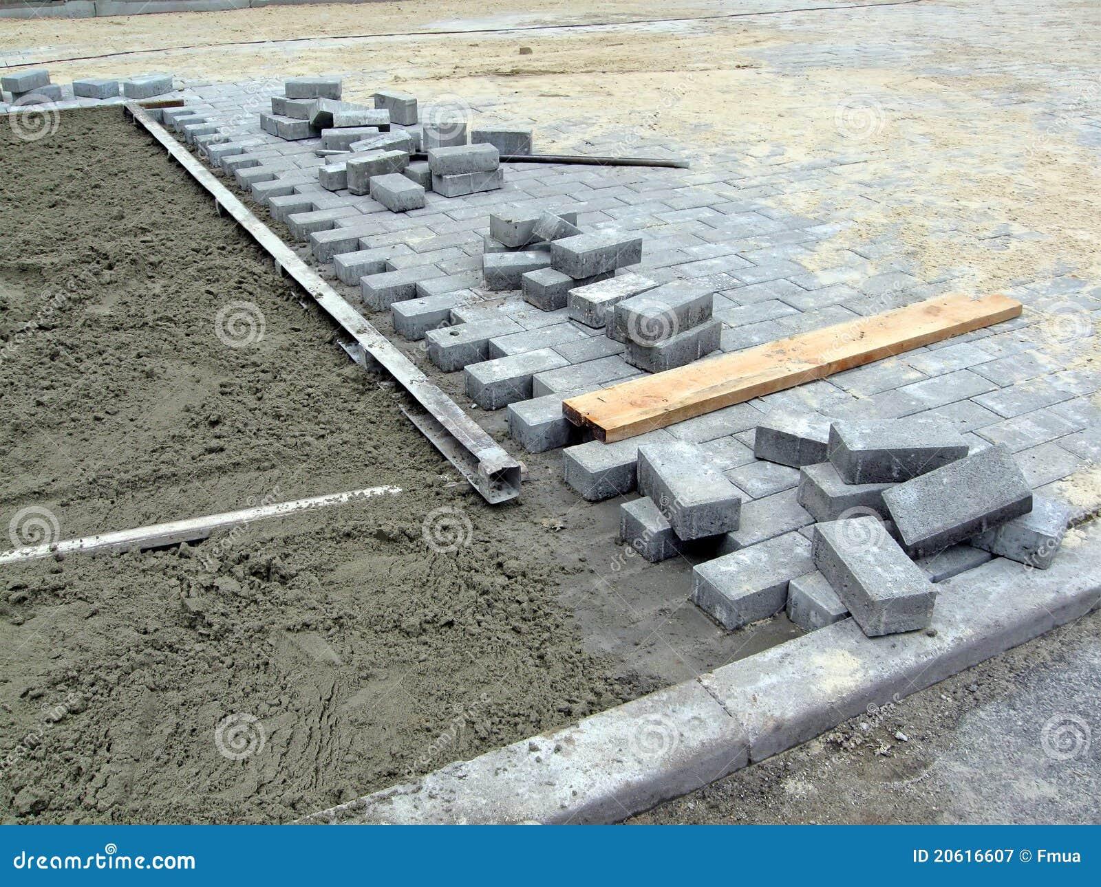 конструкция кирпича детализирует дорогу индустрии новую
