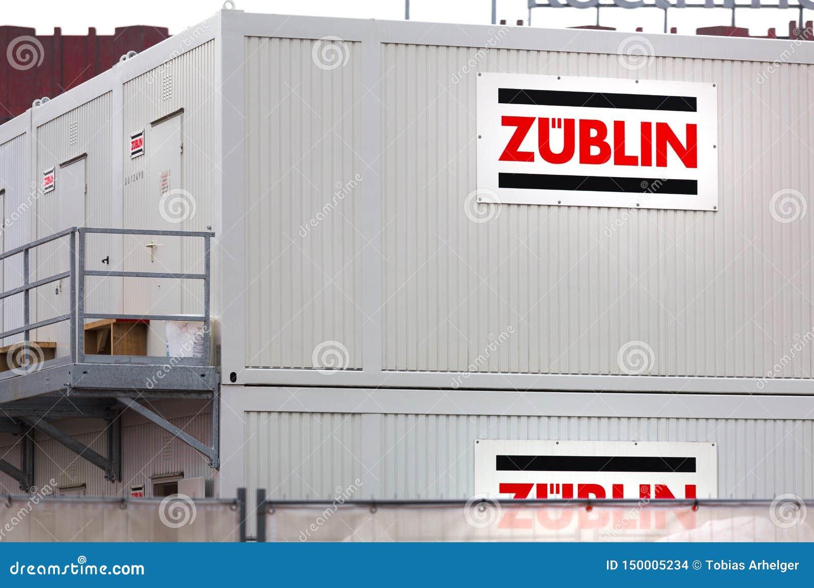 Контейнер Züblin подписывает внутри кёльн Германию