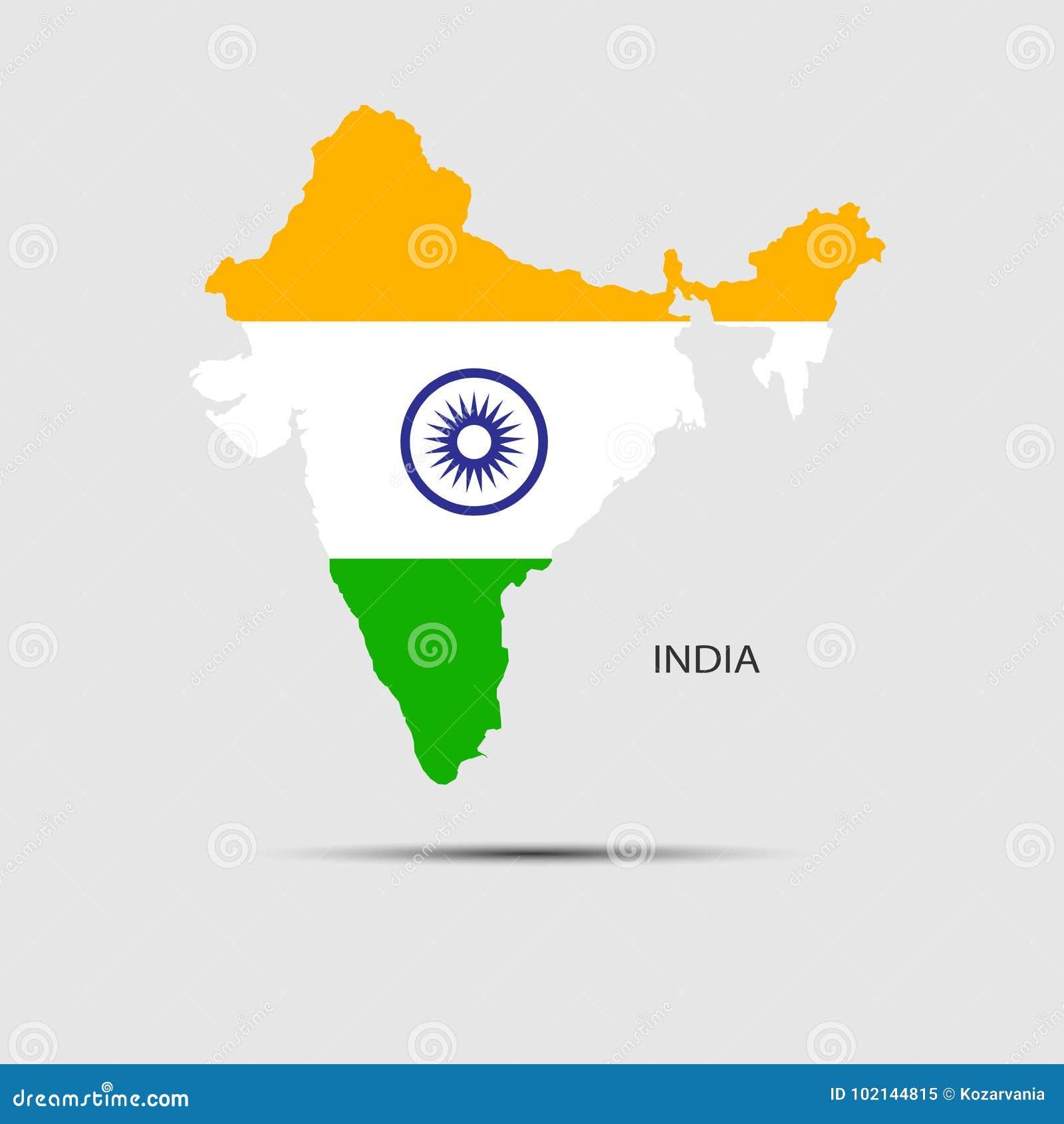 континентальная карта Индии политическая