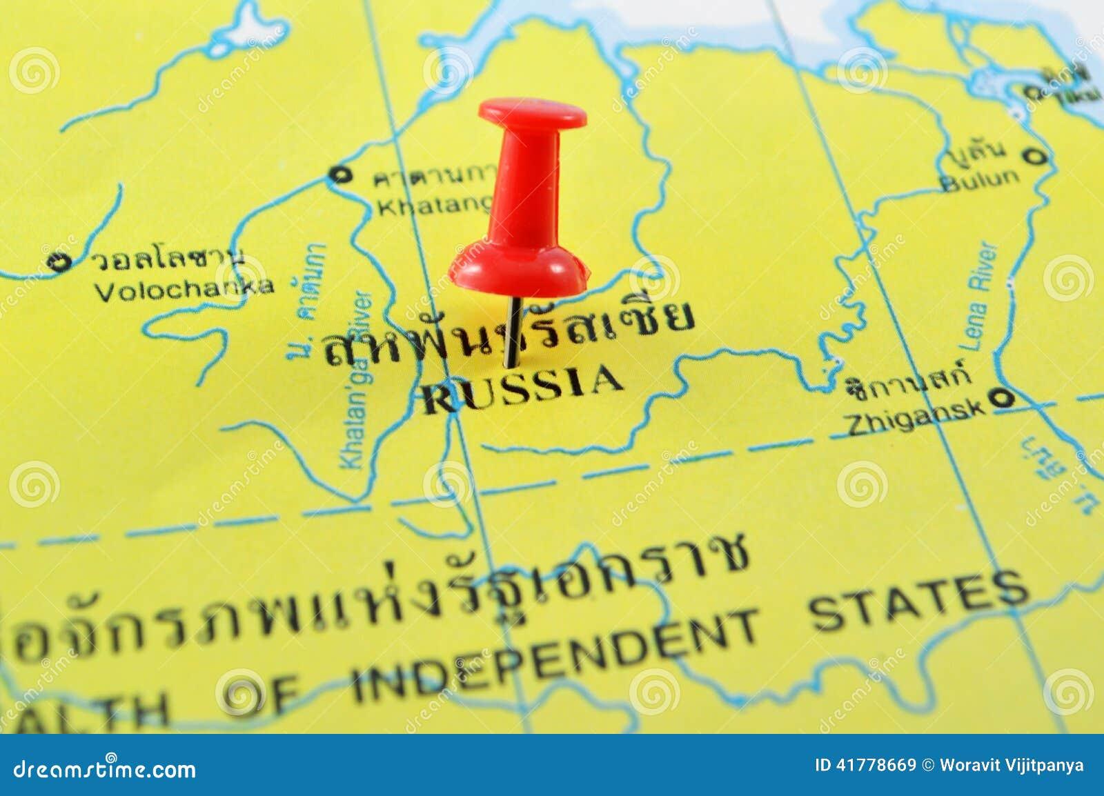 континентальная карта политическая Россия