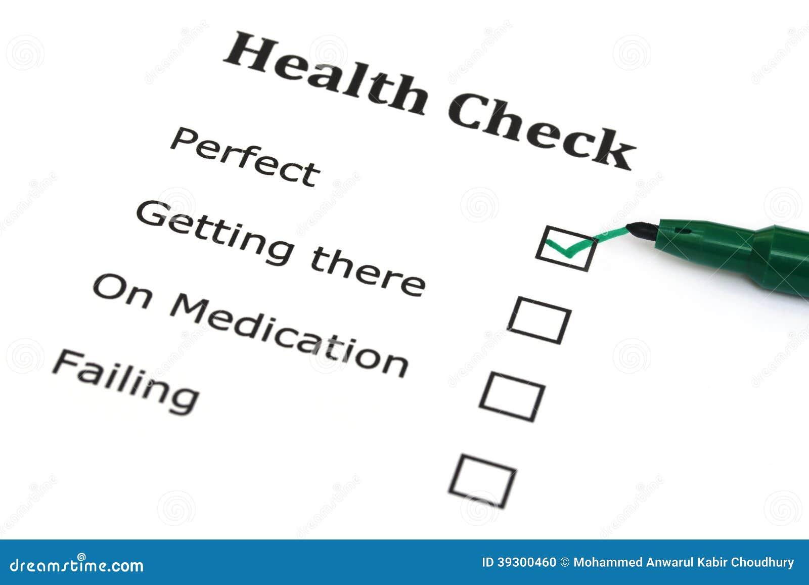 Контрольный списоок здоровья