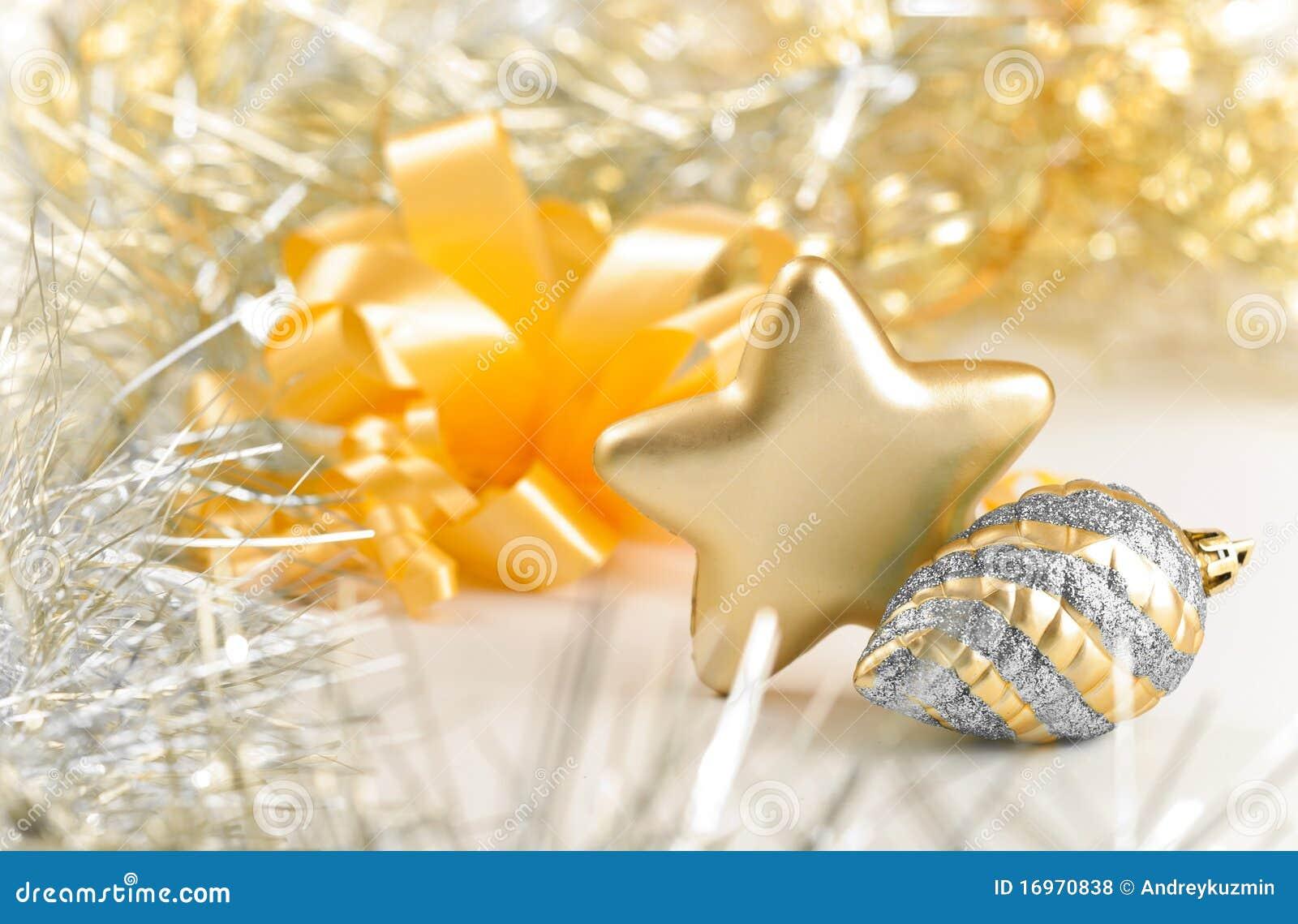 конуса золотистый жизни серебра звезды xmas все еще