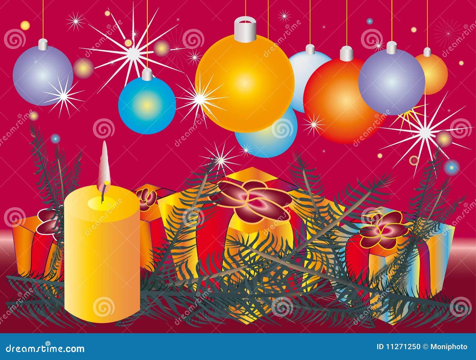 конус l орнамент рождества свечки ветвей