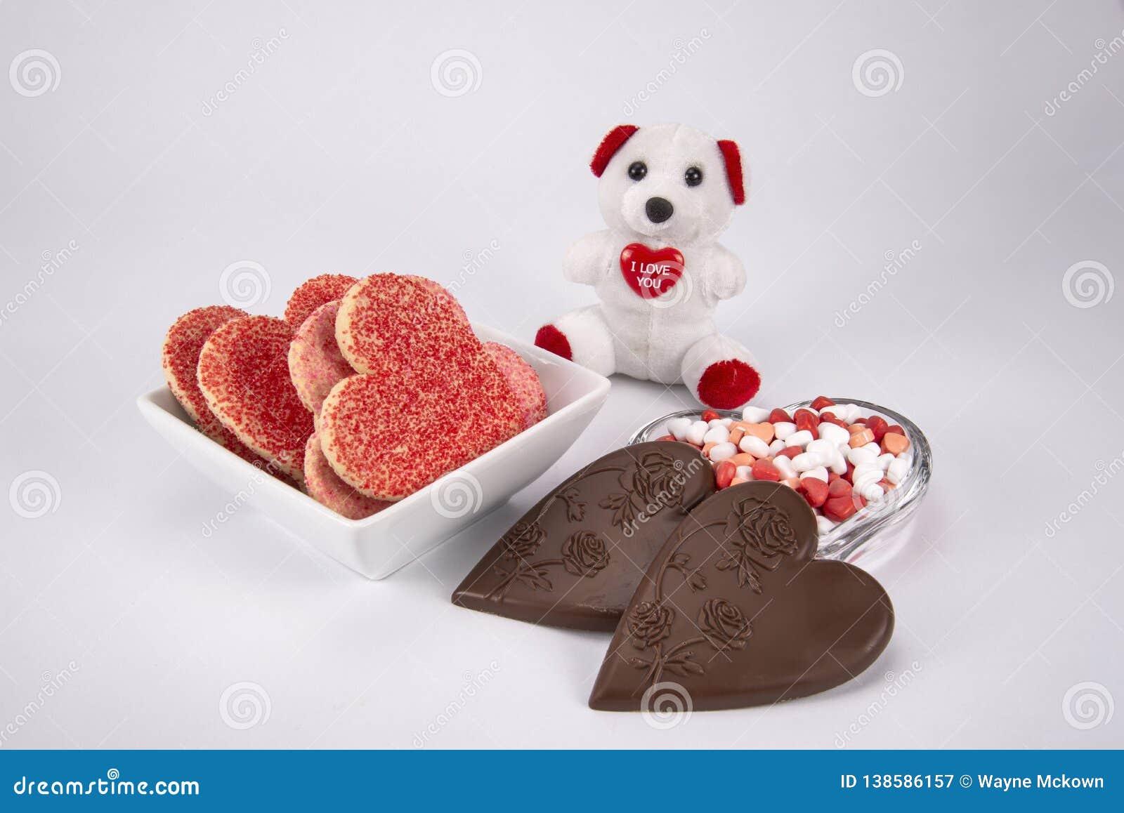 Конфета и печенья дня Святого Валентина