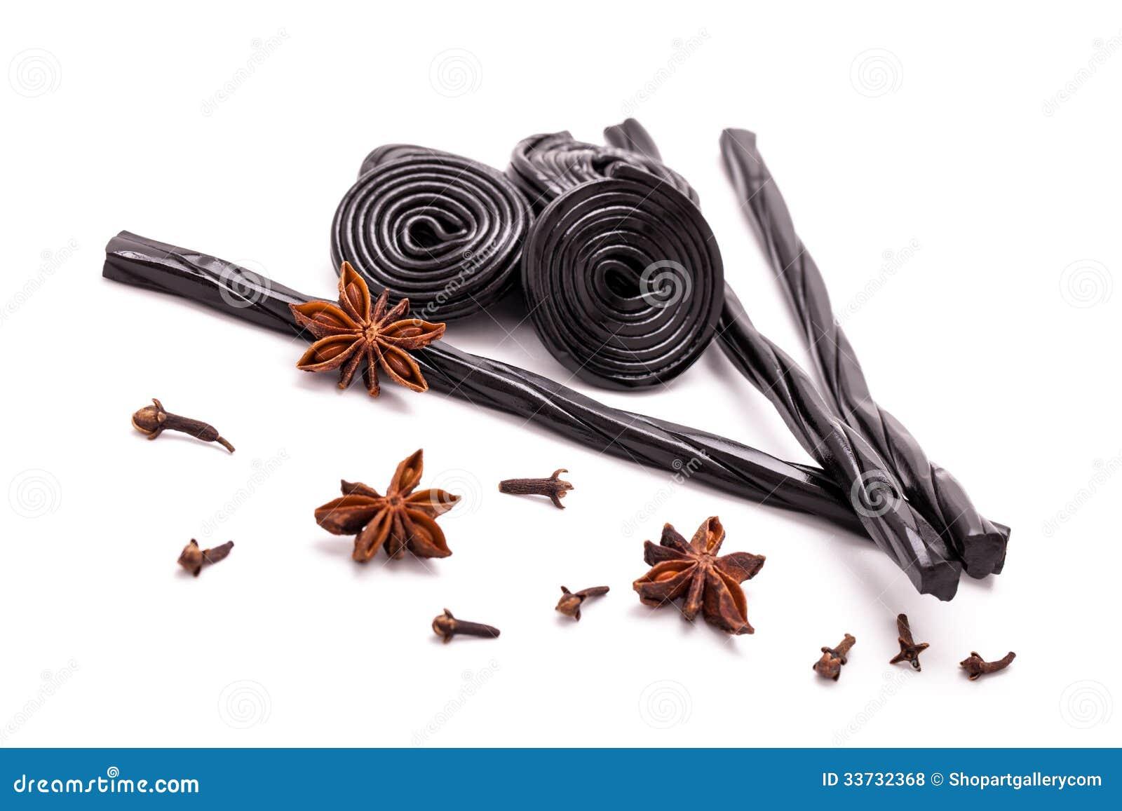 Конфета солодки, анисовка звезды и гвоздичные деревья