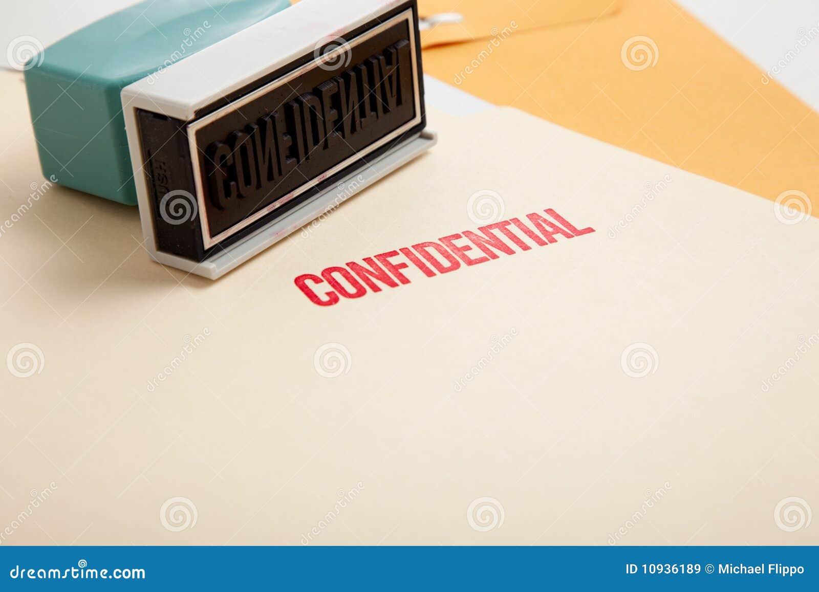 конфиденциальный штемпель скоросшивателей