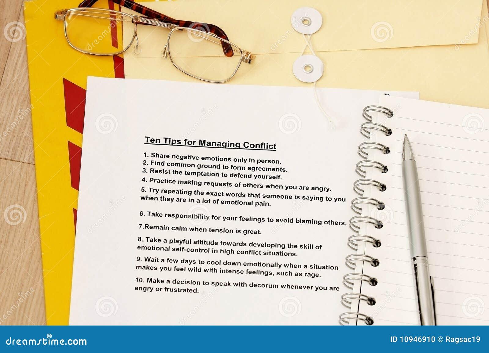 конфликты управляя 10 подсказками