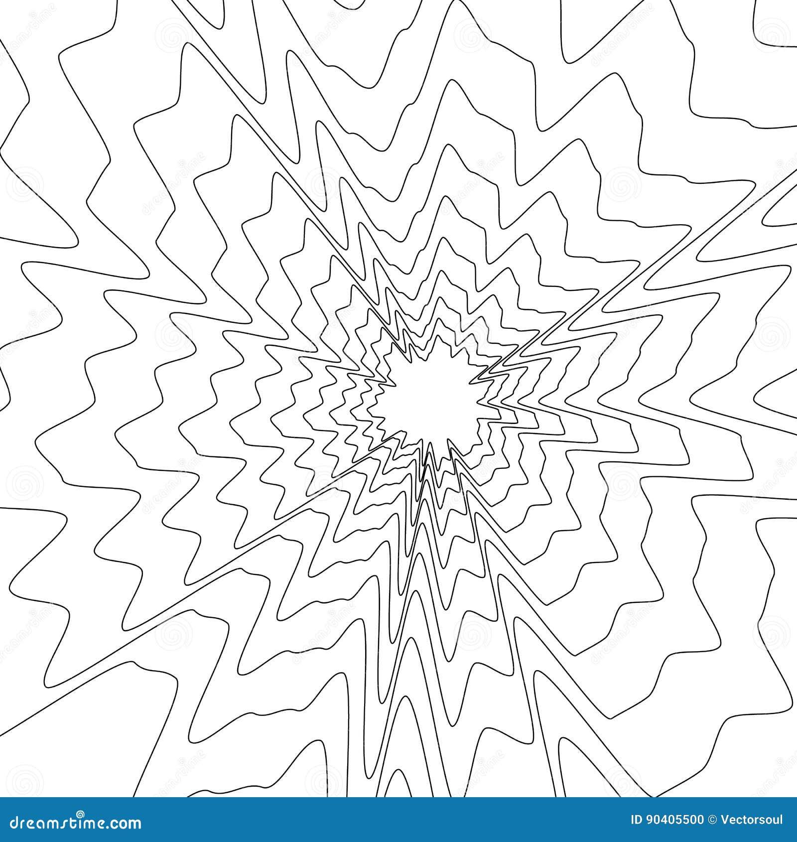 Концентрическая круговая картина Случайный взрыв, излучающ, радиальное ele