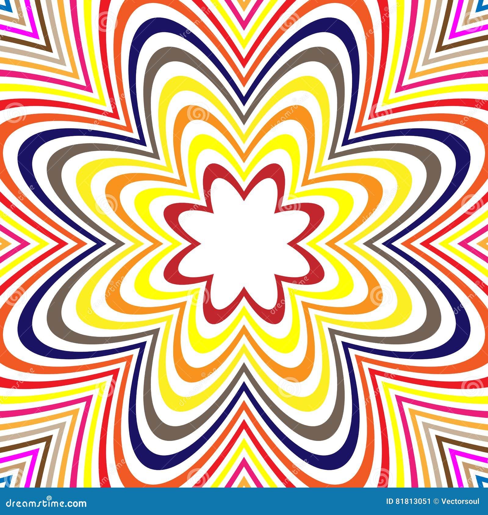 Концентрические линии с искажением Радиальные линии, излучая скороговорку