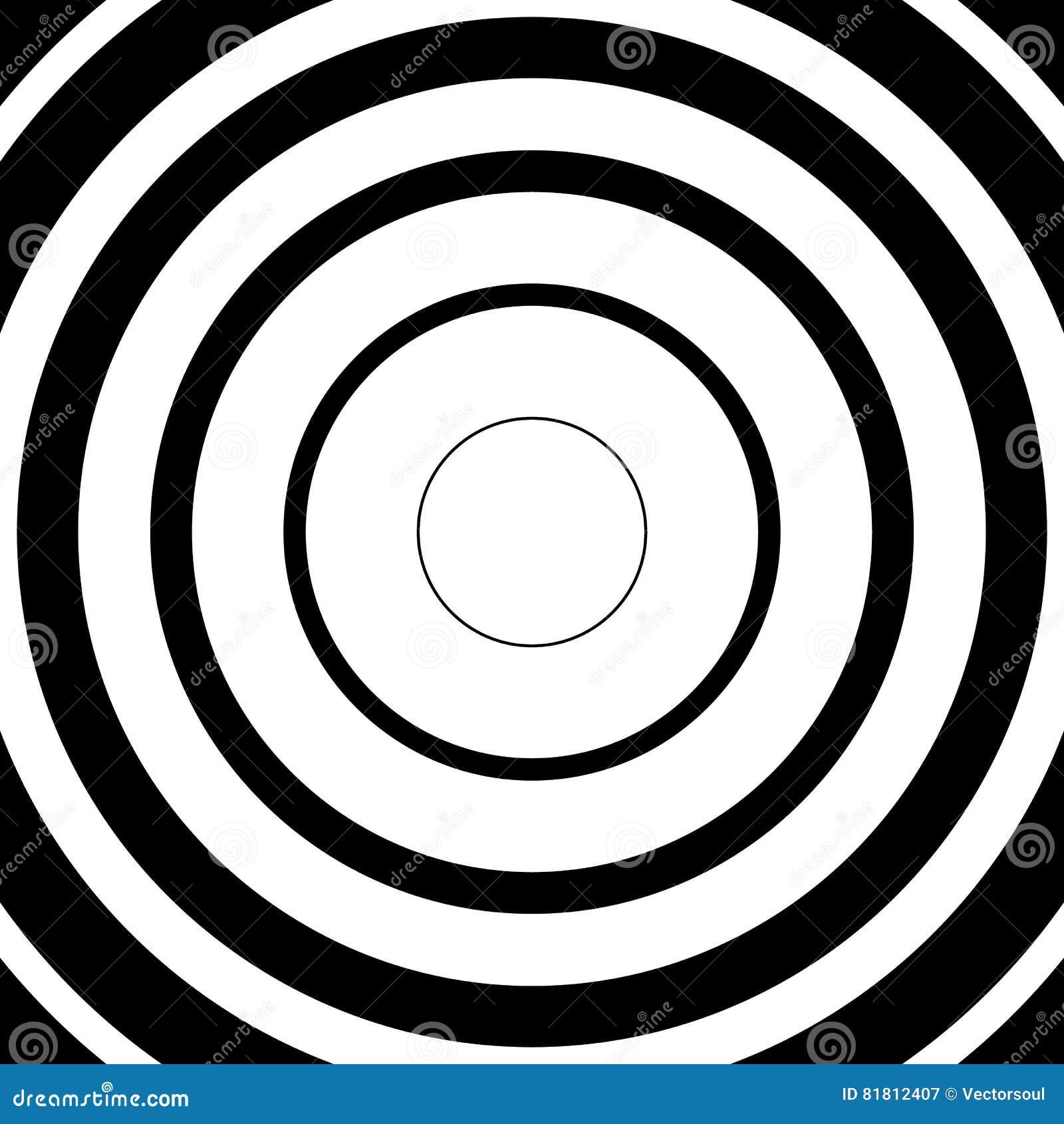 Концентрические круги, радиальные линии картины Monochrome конспект