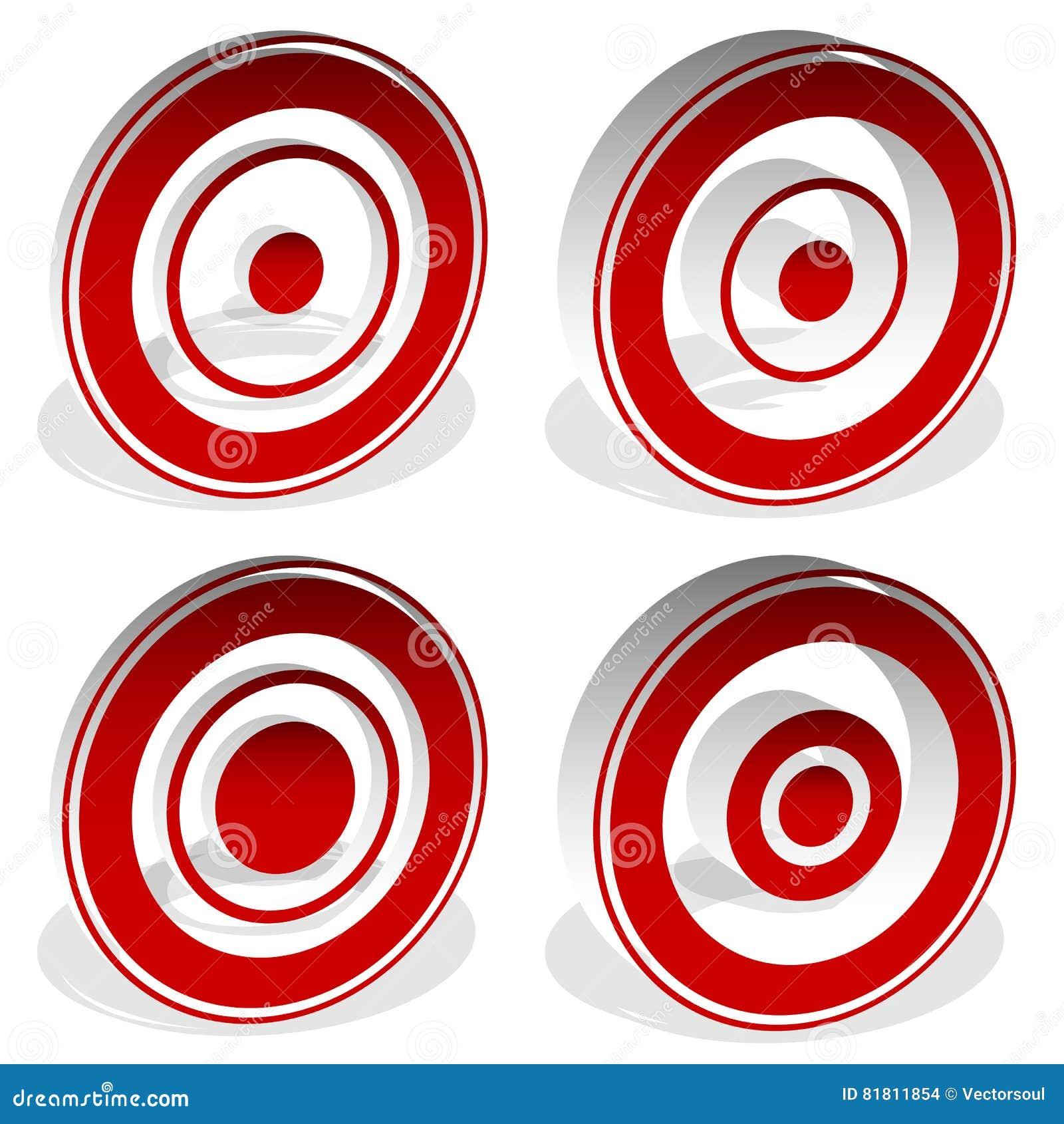 Концентрические круги, яблочко, перекрестие, перекрещение, метка i цели