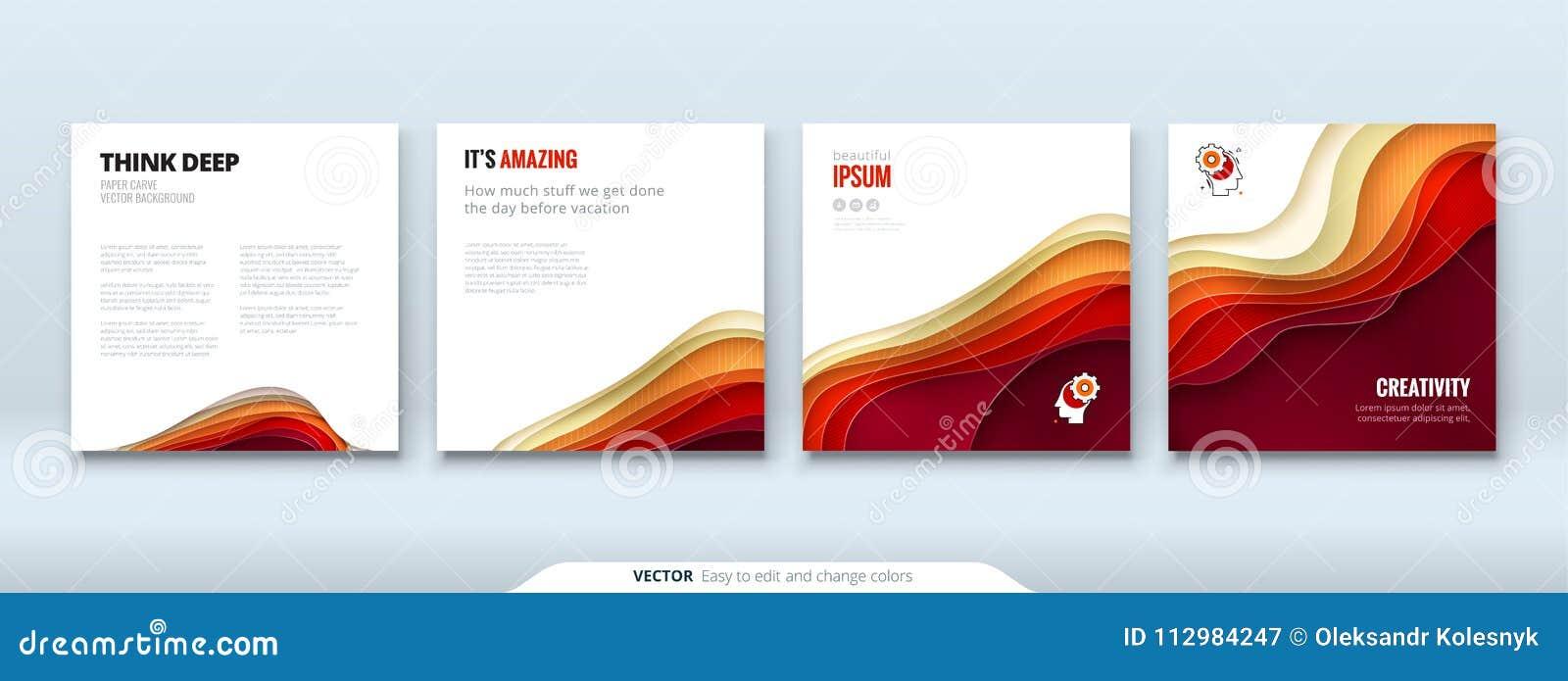 Концептуальный документ предпосылки отрезка бумаги высекает абстрактную предпосылку для дизайна рогульки брошюры знамени карточки