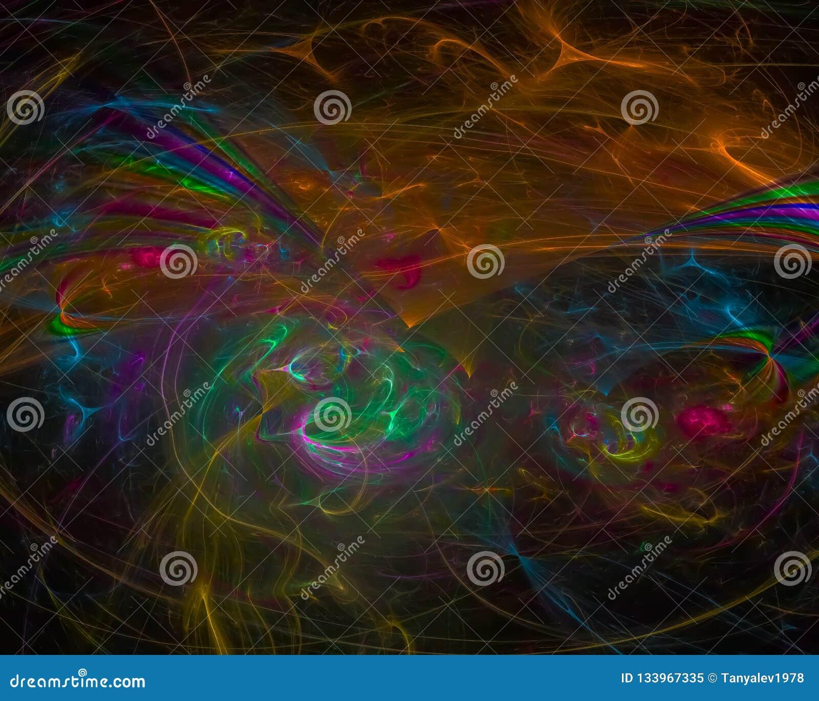 Концепции края тенденции цифров тайна шаблона абстрактной яркая, фантазия дизайна обоев футуристическая