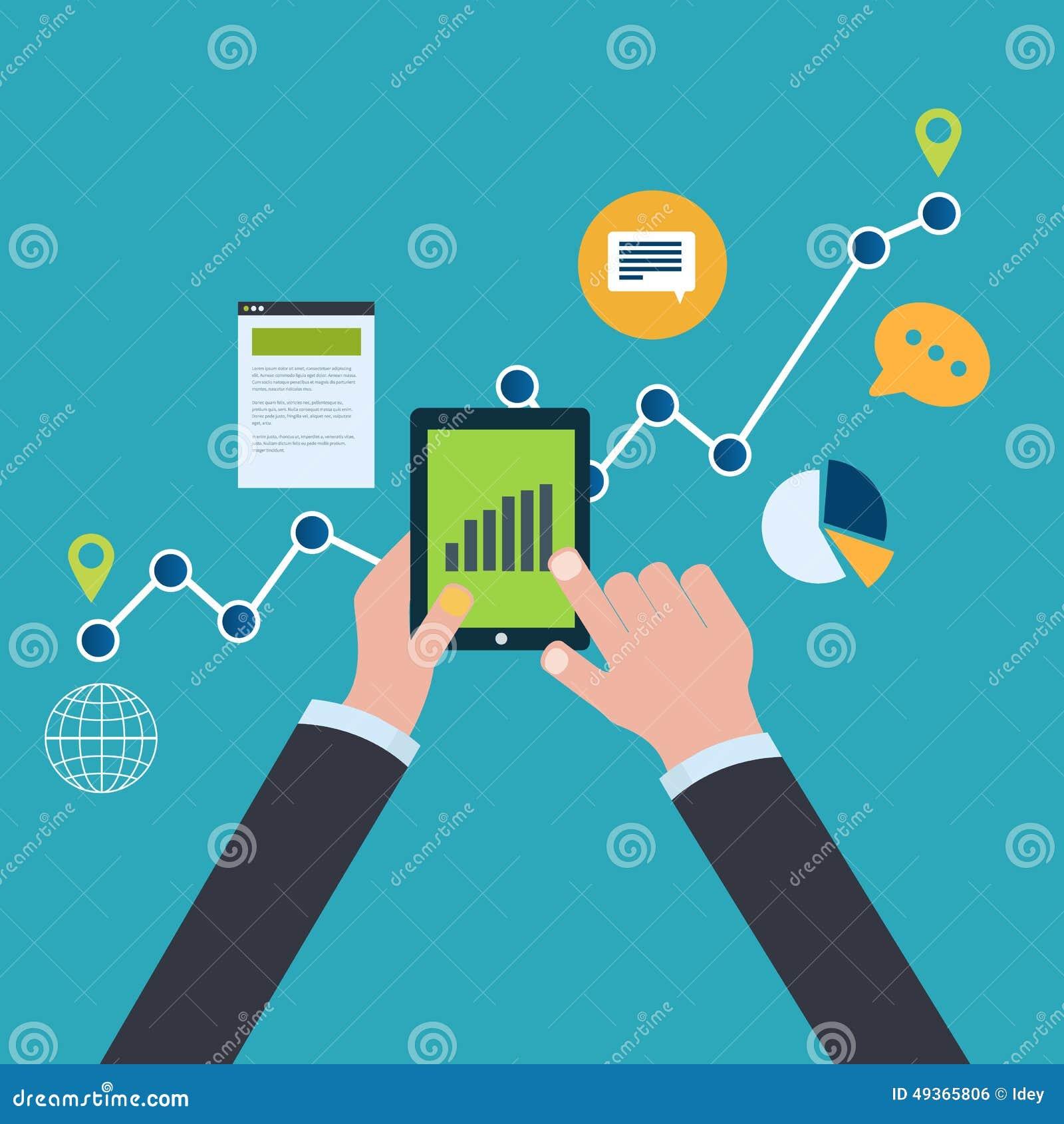 Концепция аналитика вебсайта и анализа данных SEO