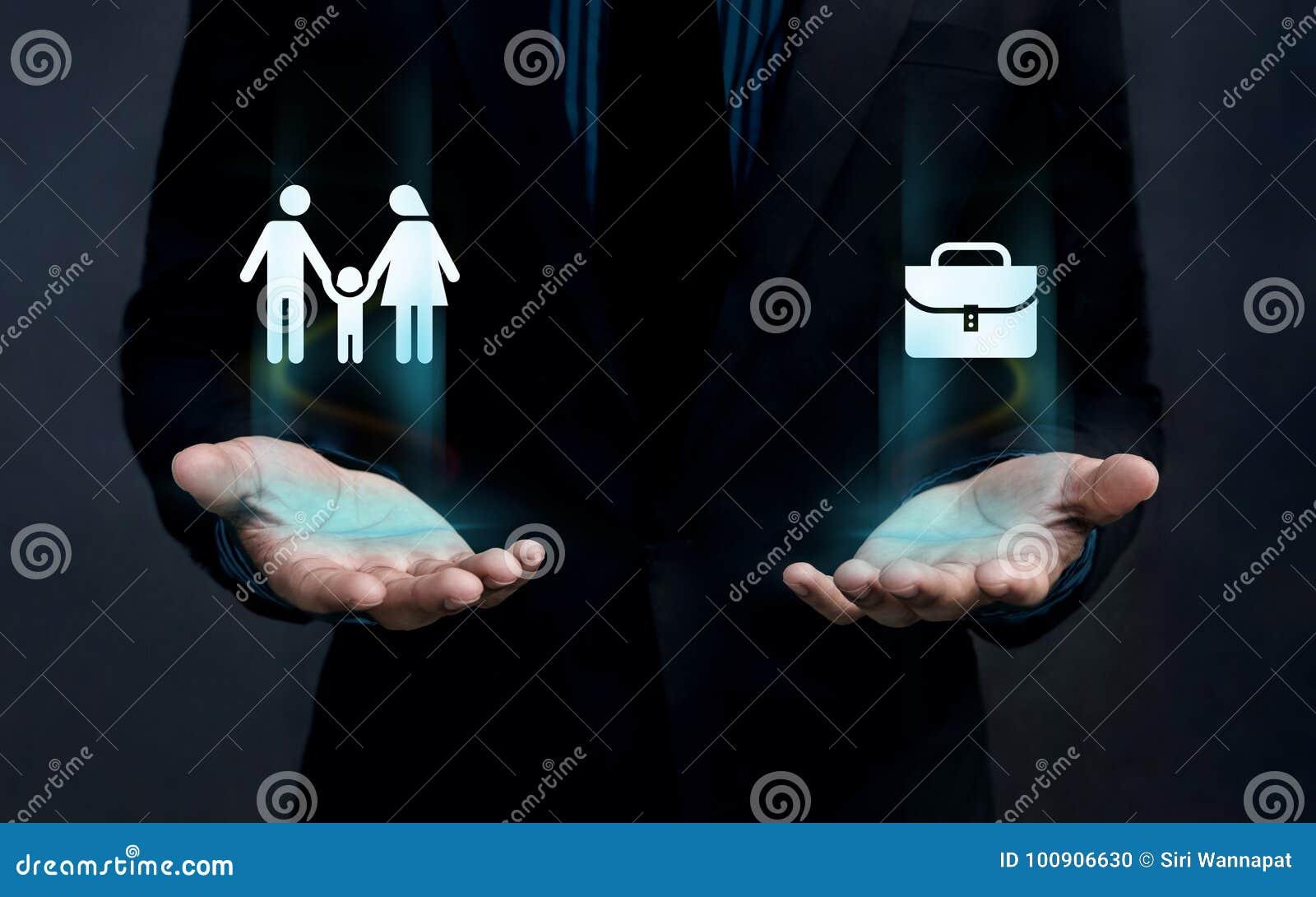 Концепция баланса жизни работы, форма семьи и портфель Fl работы