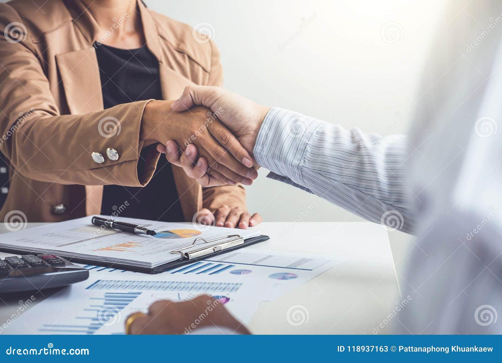Концепция встречи партнерства дела, 2 уверенно дело Хан