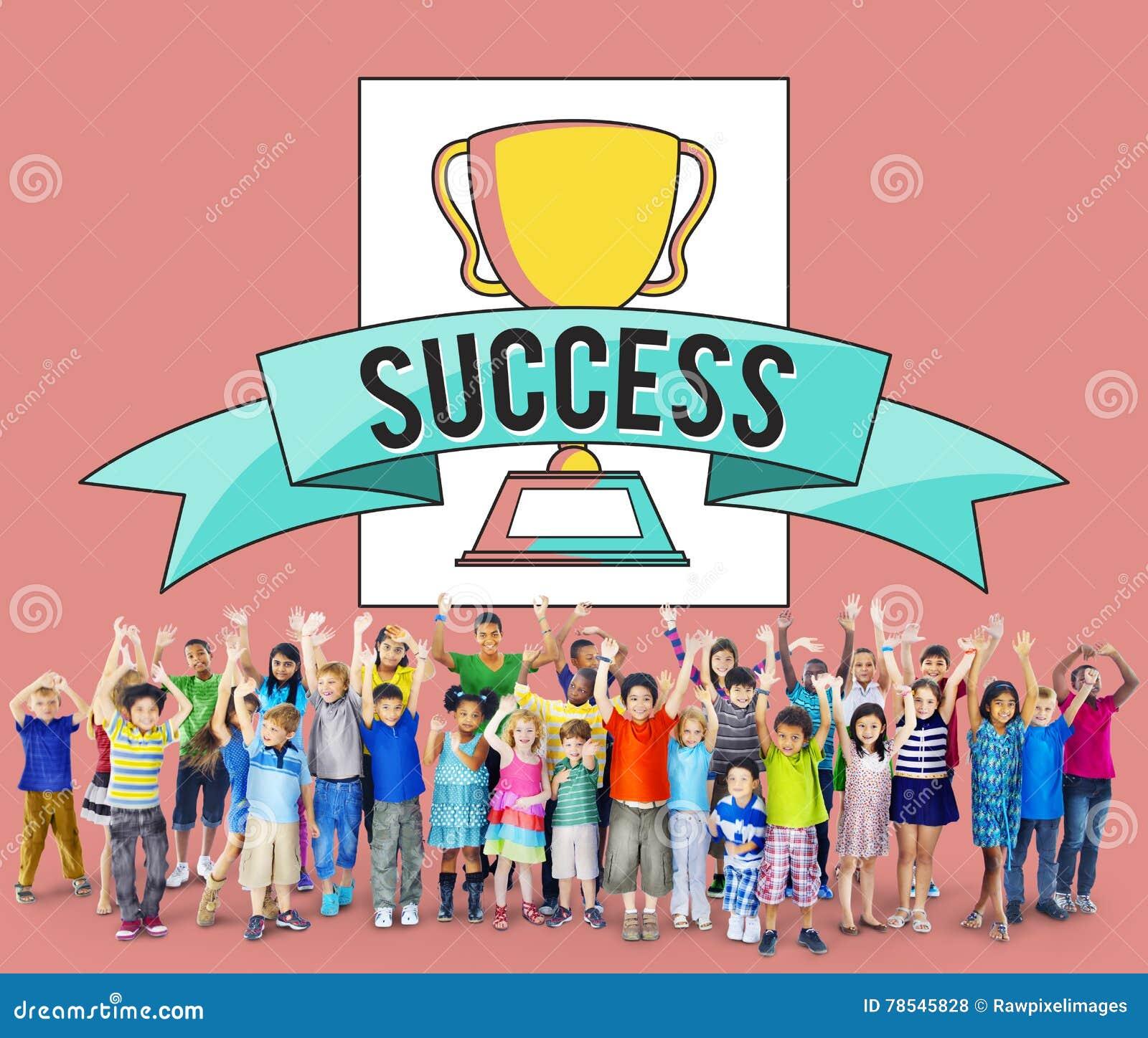 Концепция выполнения успеха премии за достижения детей детей