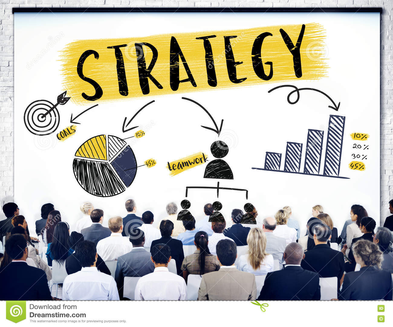 Концепция графика диаграммы планирования стратегии клеймя
