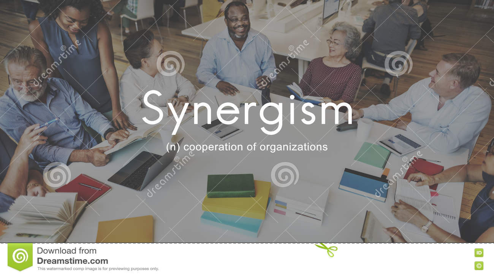 Концепция графика людей команды синергизма