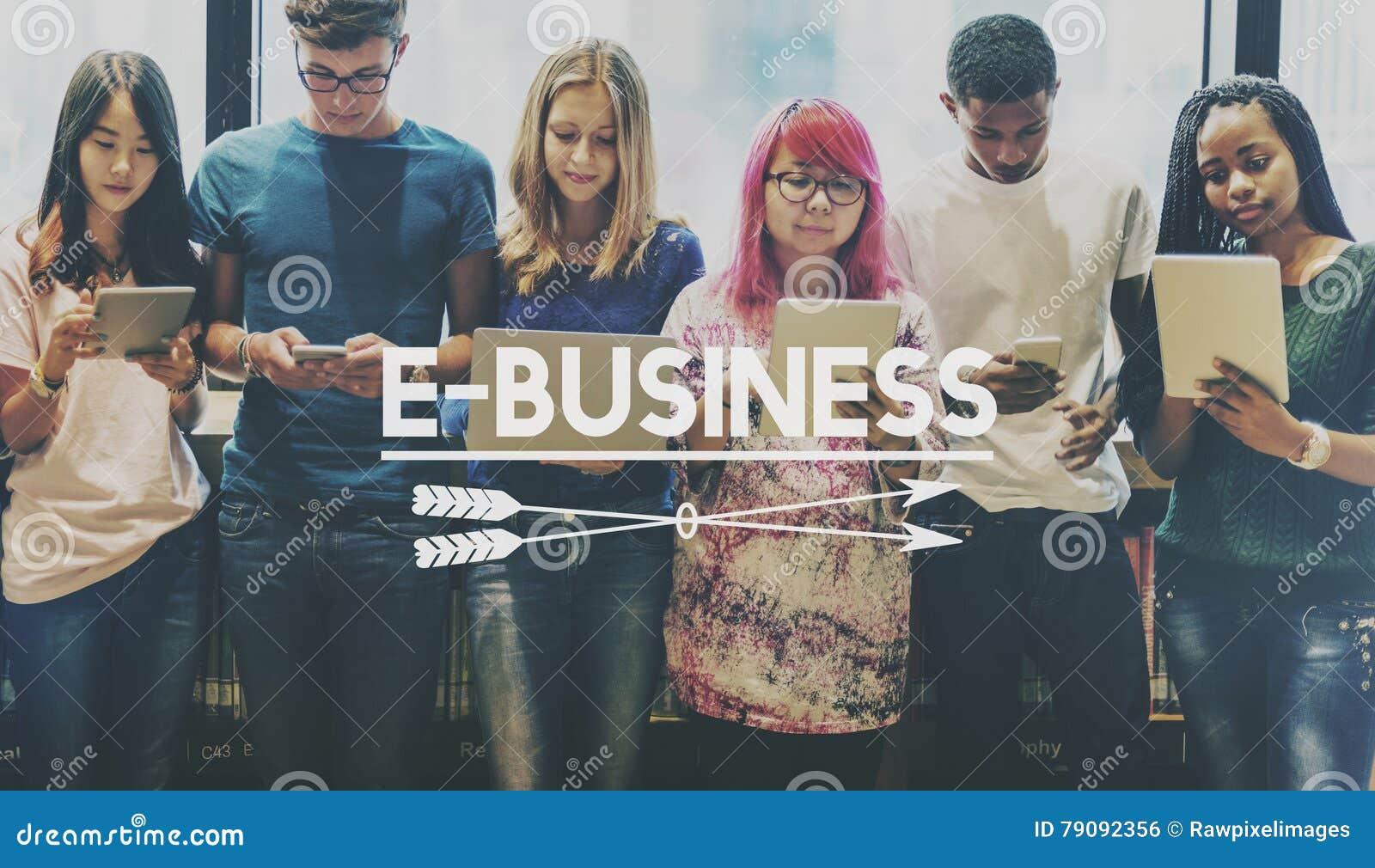концепция глобального бизнеса электронной коммерции E-дела