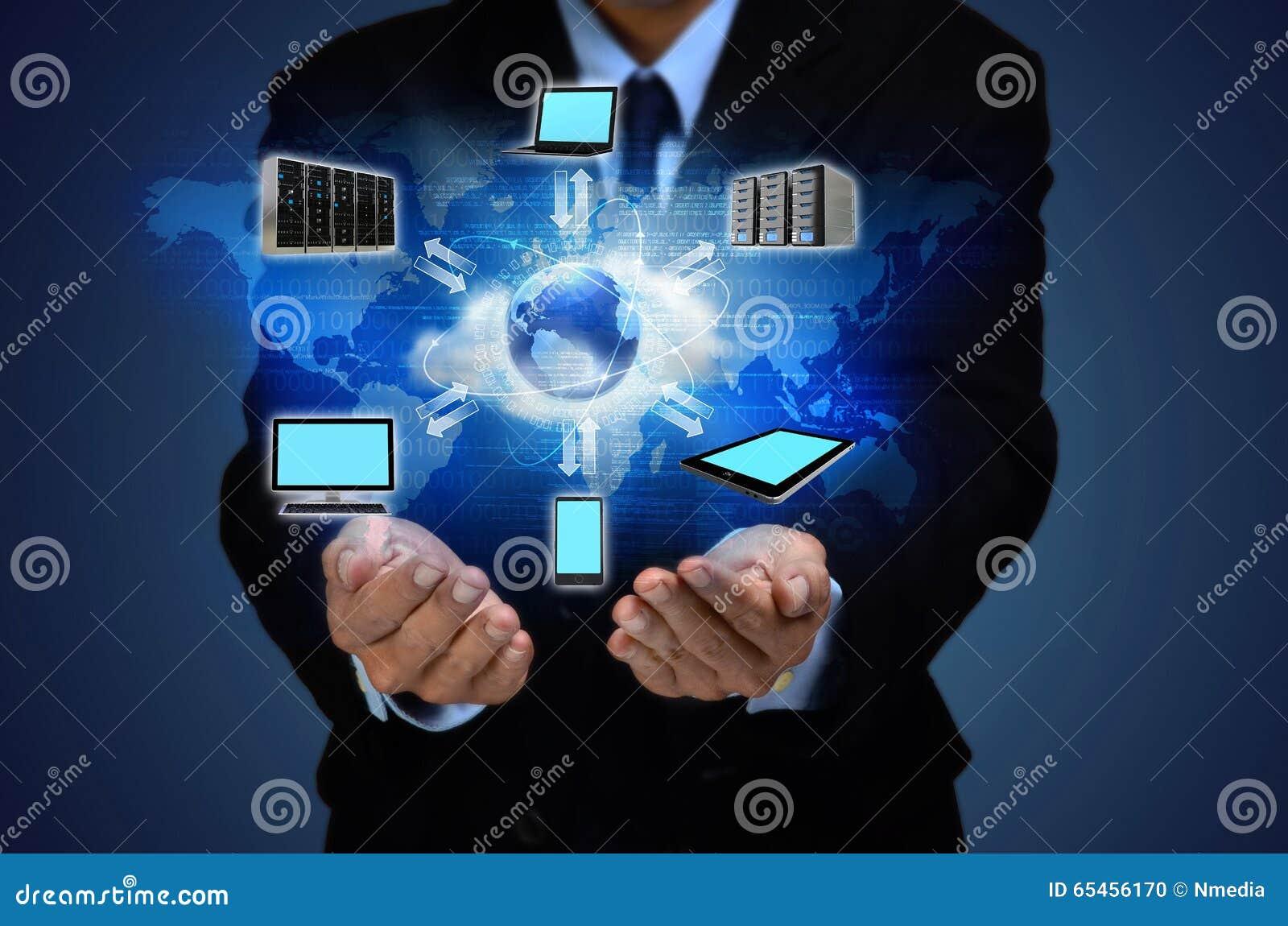 Концепция дела облака интернета
