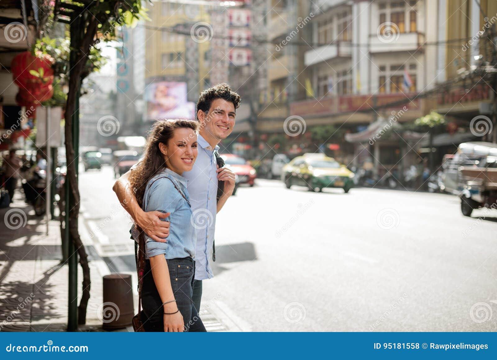Концепция единения путешествием назначения перемещения пар