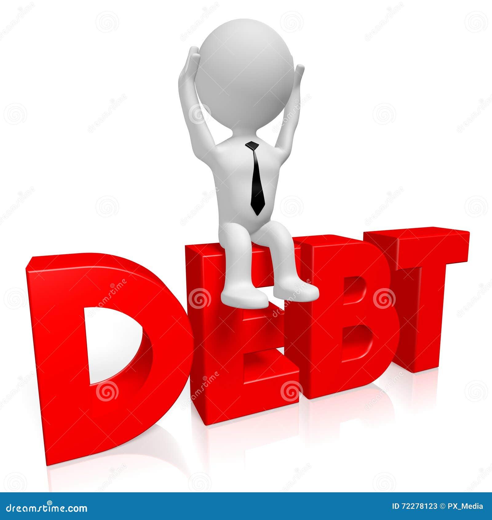 Download концепция задолженности 3D иллюстрация штока. иллюстрации насчитывающей финансовохозяйственно - 72278123