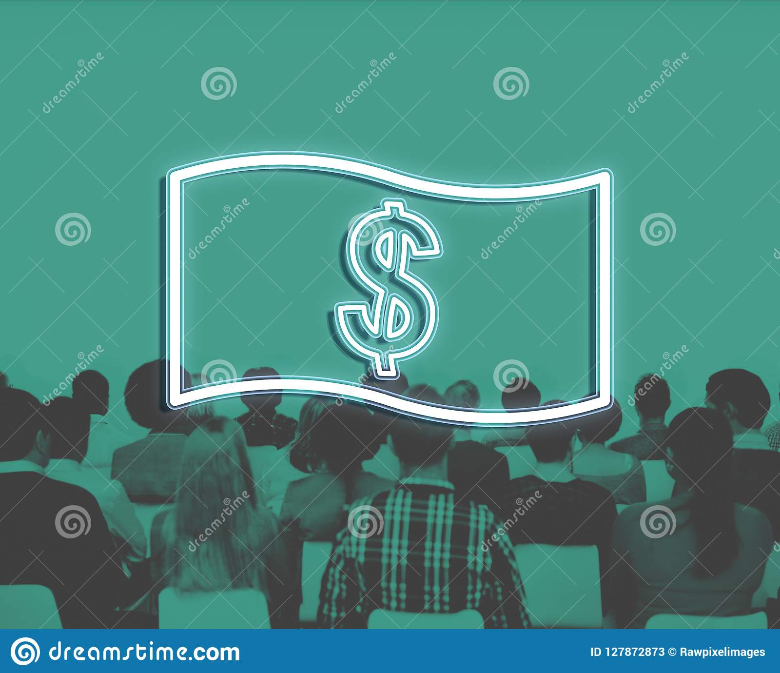 Концепция значка денег бухгалтерии исходящей наличности сбережений