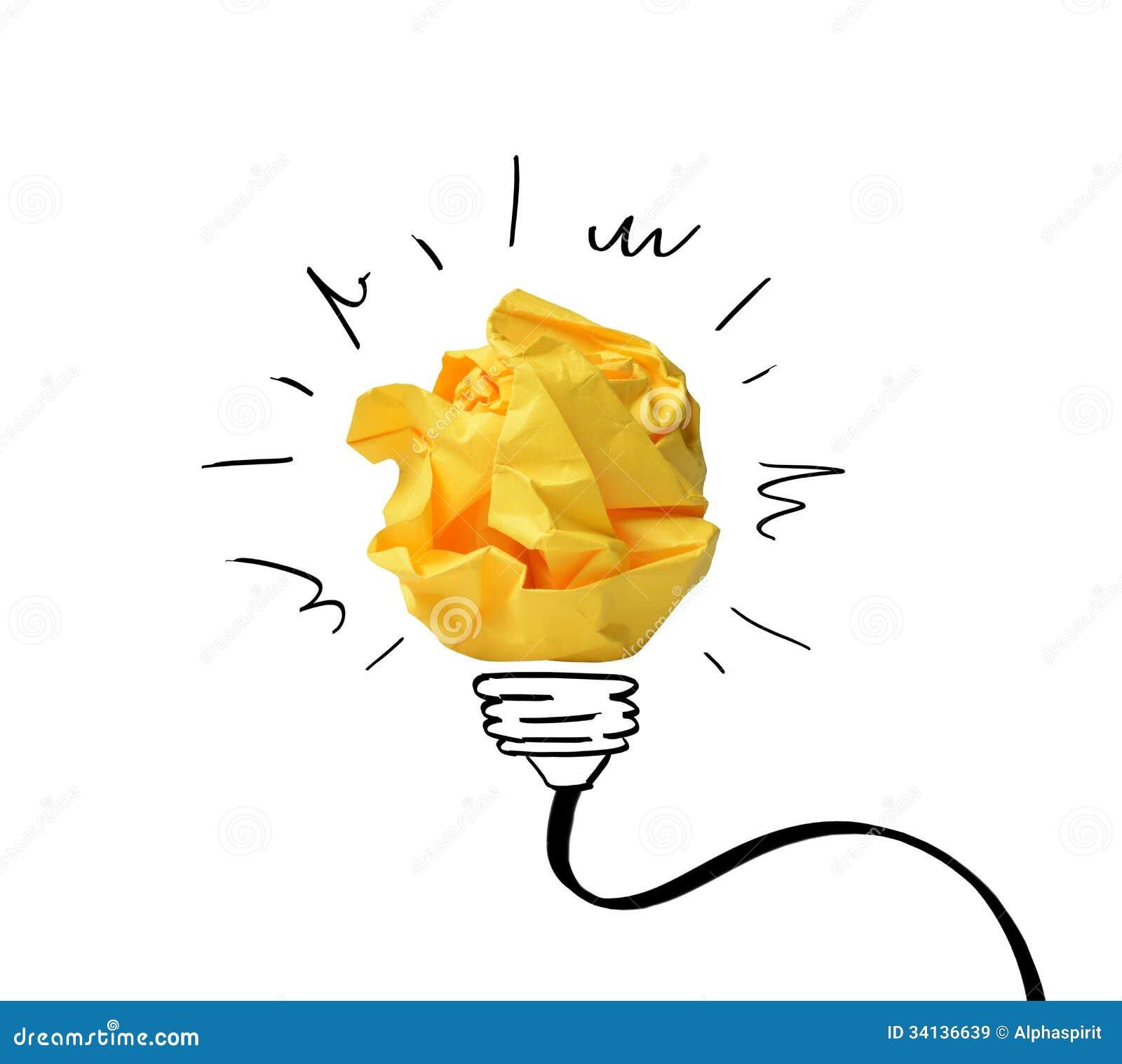 Концепция идеи с бумажными примечаниями