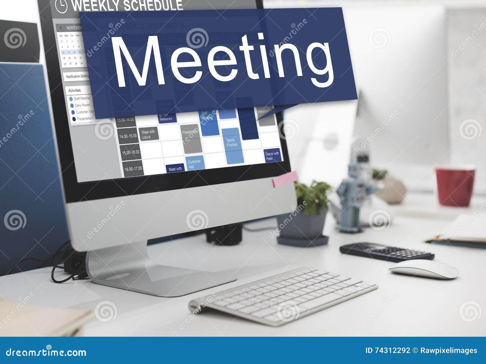 Концепция конференции организатора план-графика назначения встречи