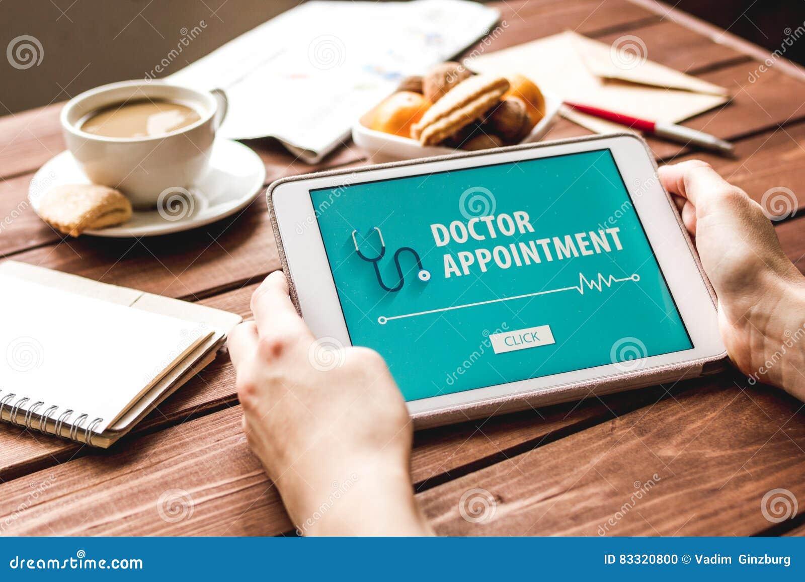 Концепция назначения для того чтобы врачевать онлайн