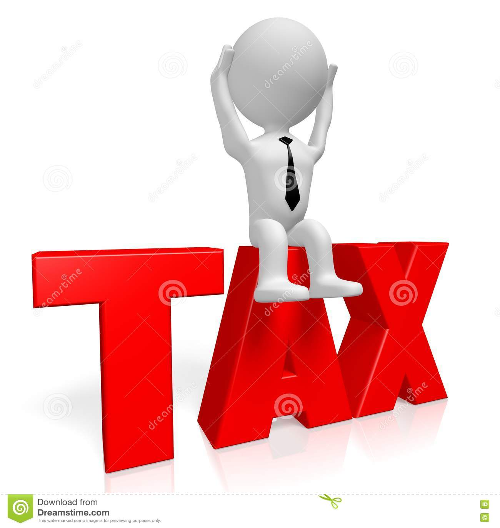 Download концепция налога 3d иллюстрация штока. иллюстрации насчитывающей зажим - 72278117