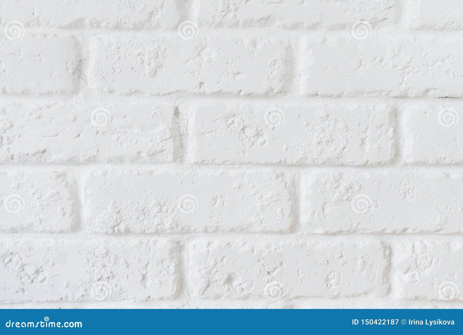Концепция обоев кухни: Конец вверх по современной белой предпосылке текстуры стены плиток кирпича Белая текстура кирпичной стены