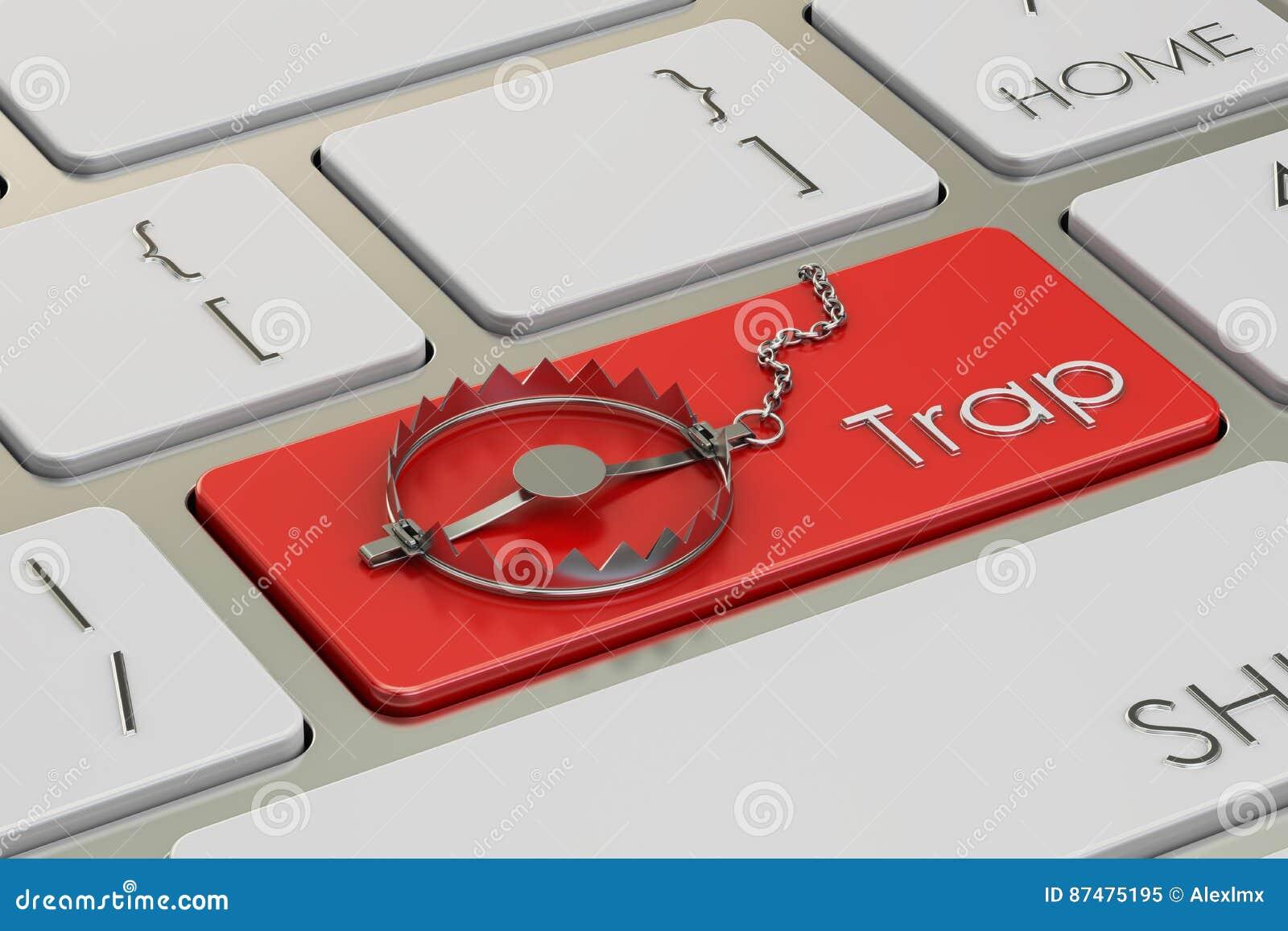 Концепция ловушки, кнопка на клавиатуре