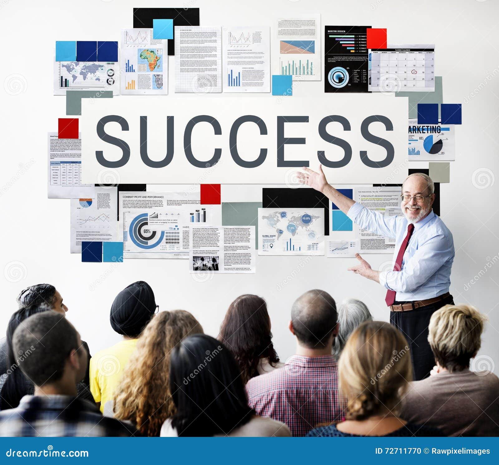 Концепция победы роста достижения успеха превосходная