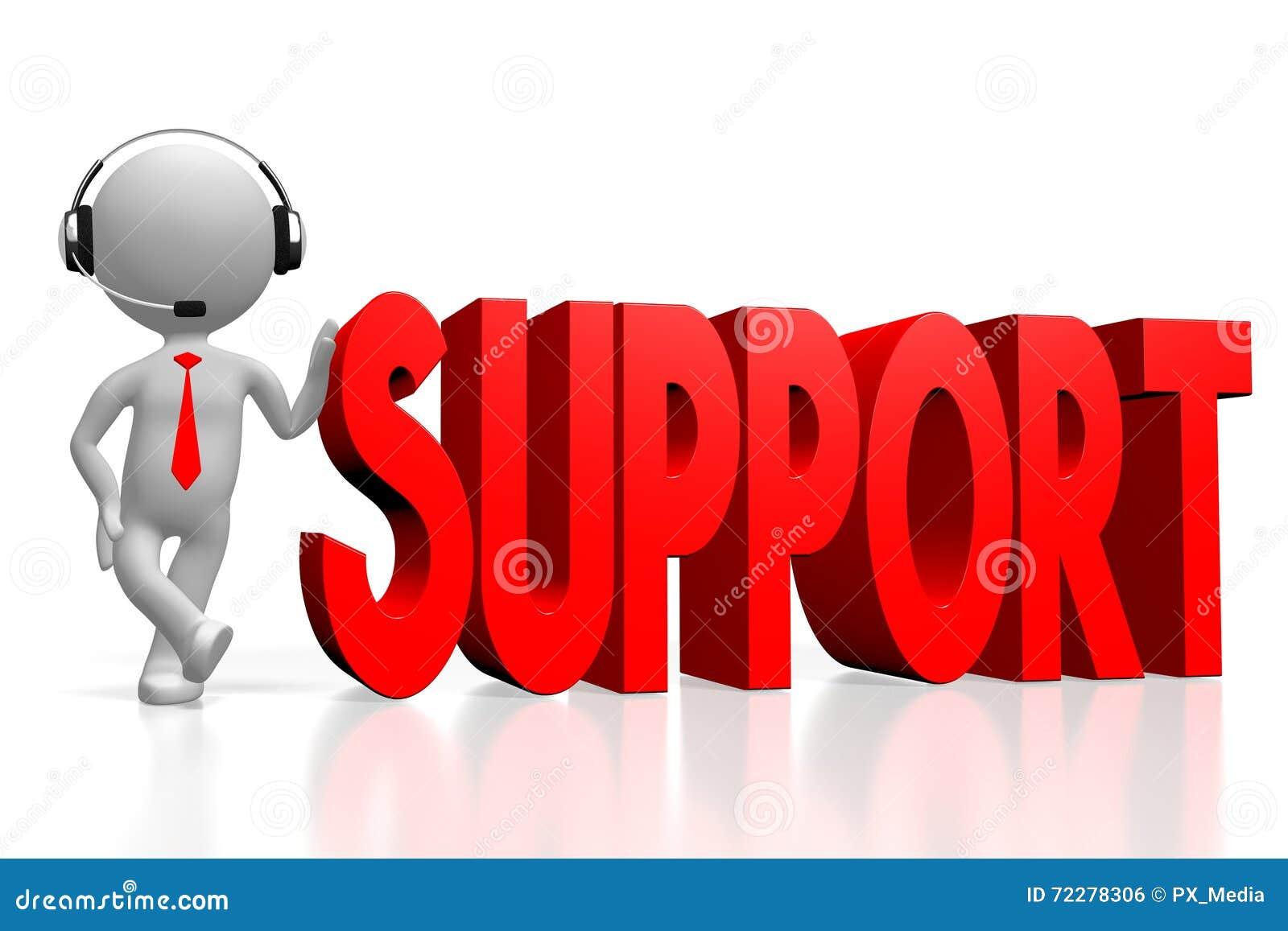 Download концепция поддержки 3d иллюстрация штока. иллюстрации насчитывающей человек - 72278306