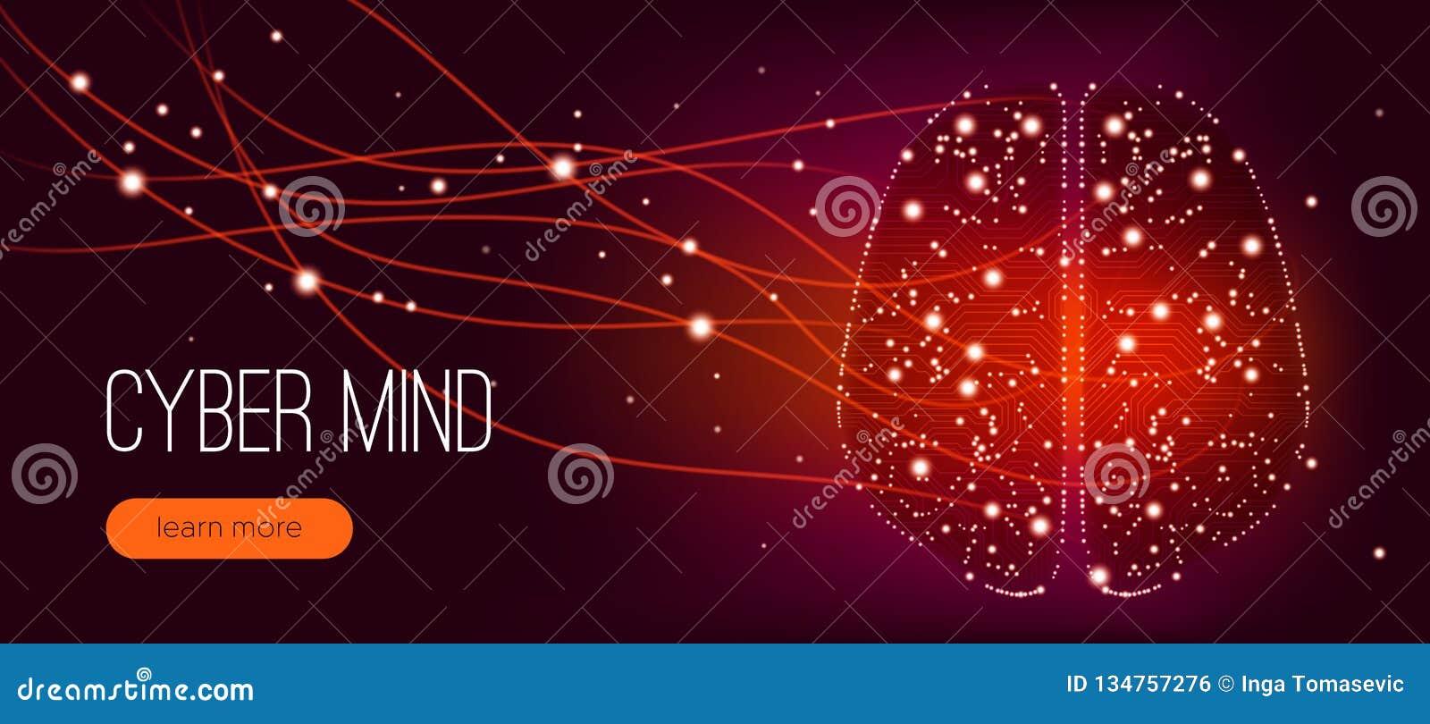 Концепция разума кибер, искусственный интеллект