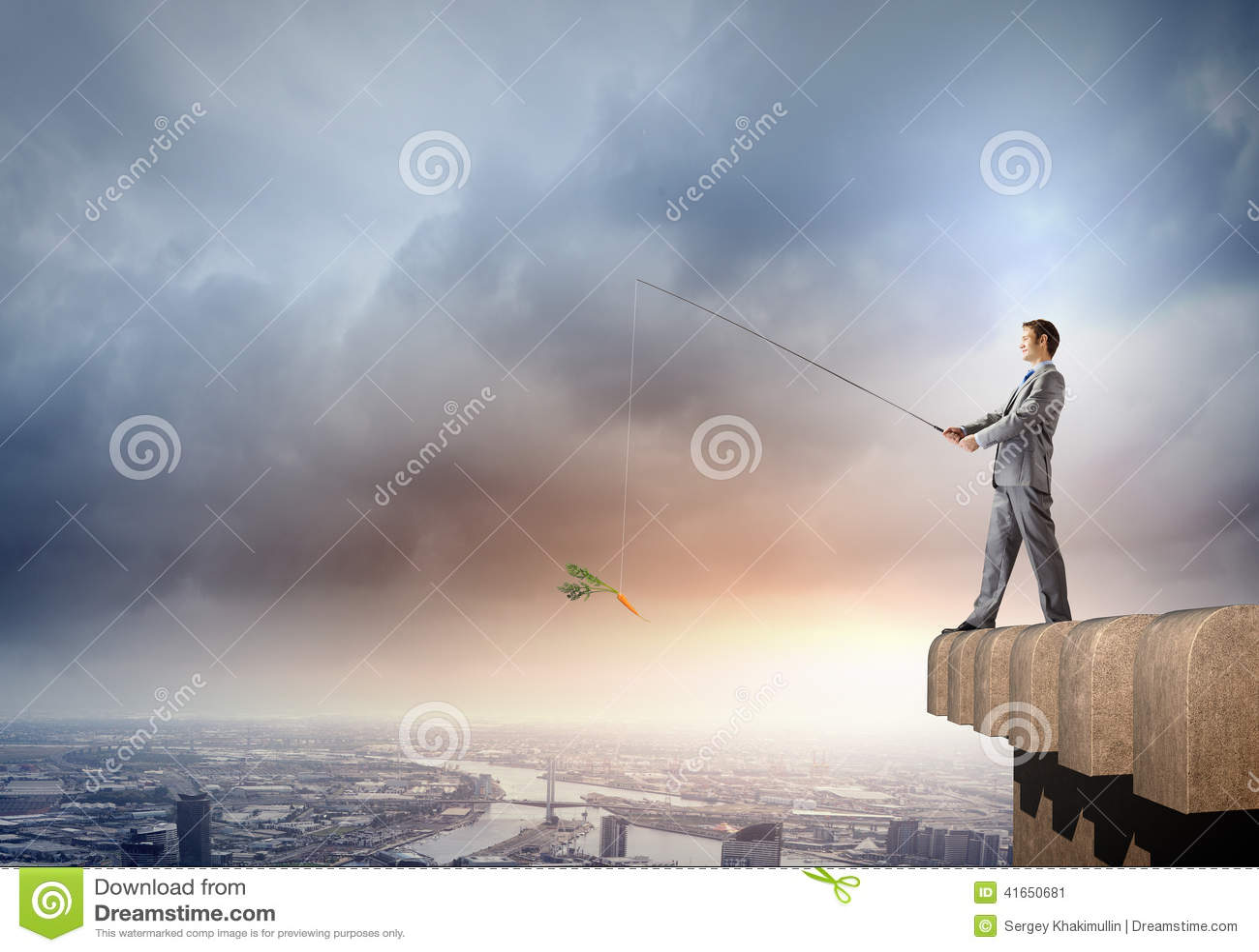 Концепция рыбной ловли