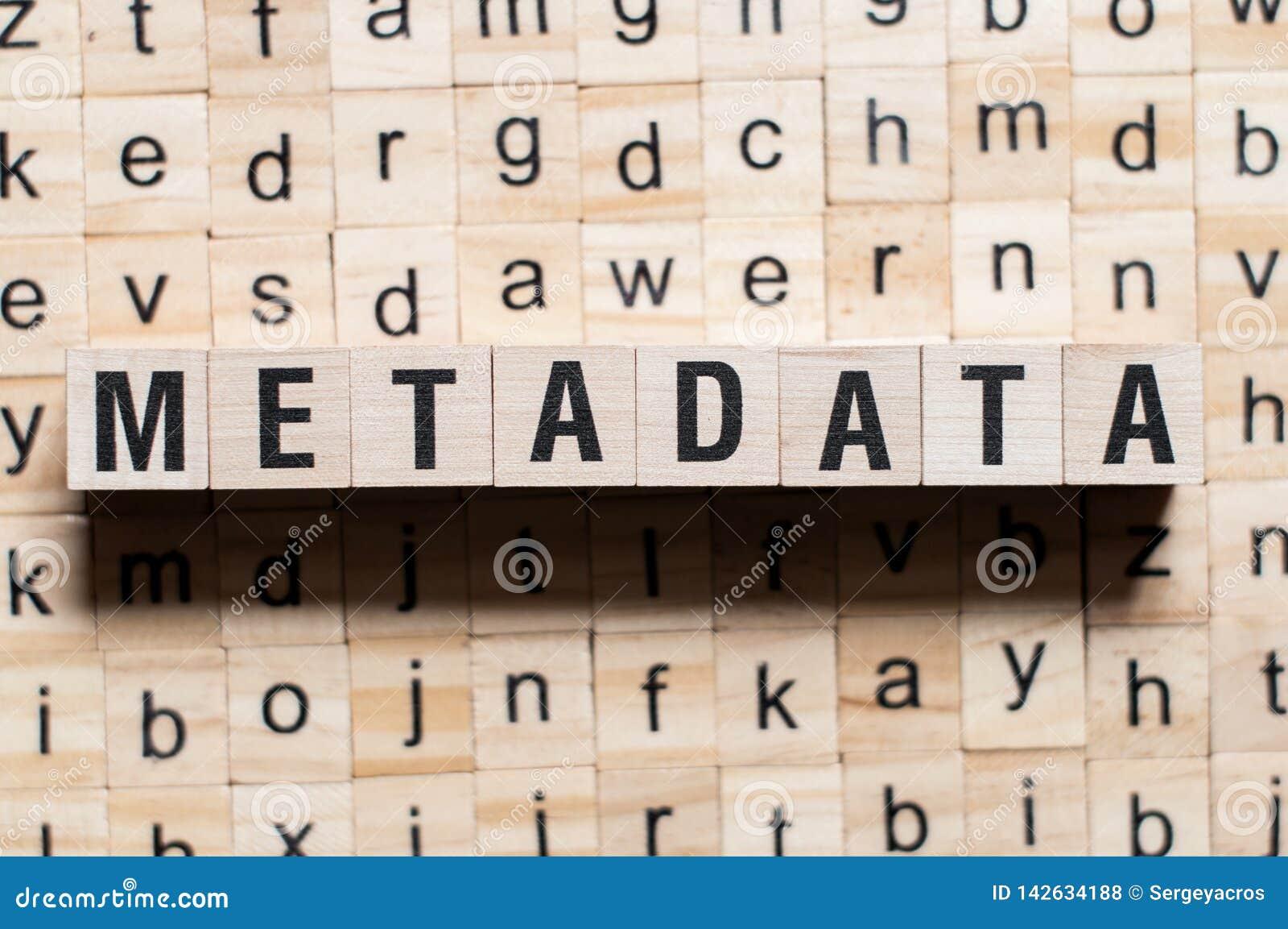 Концепция слова метаданных