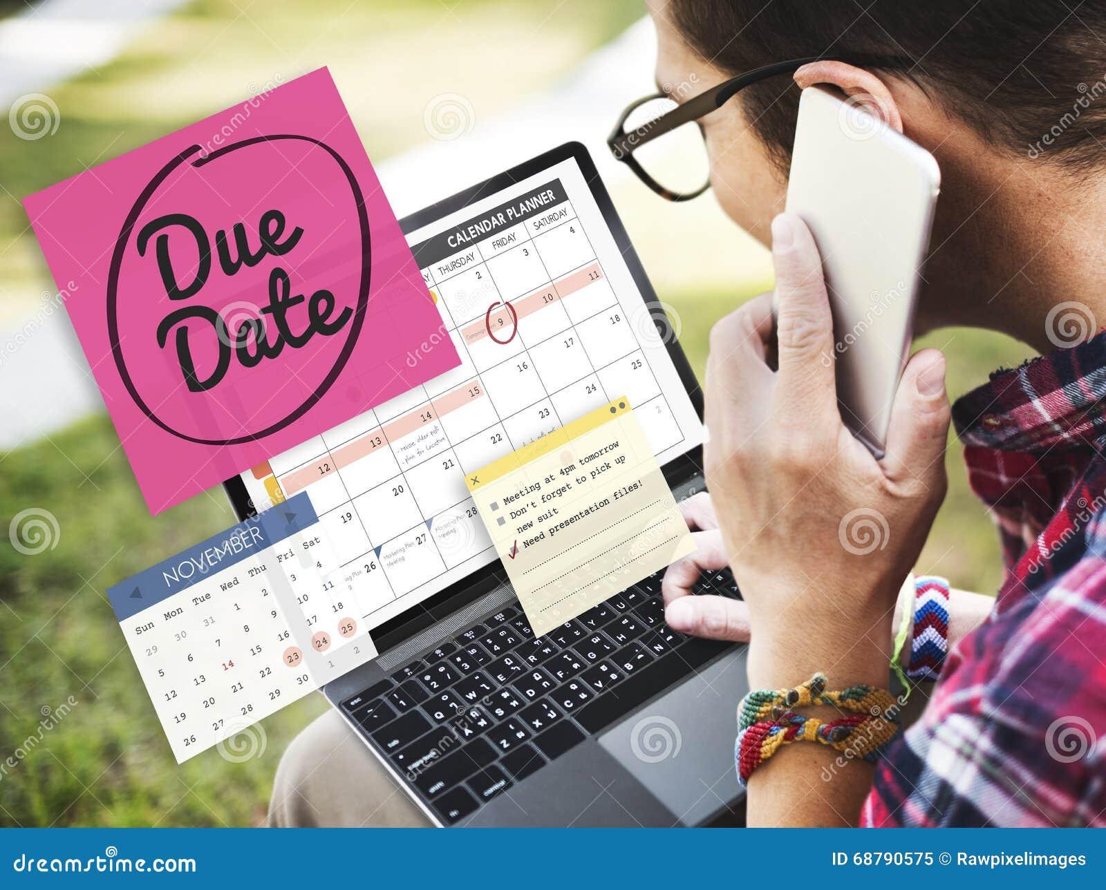 Концепция события дня назначения срока оплаты важная