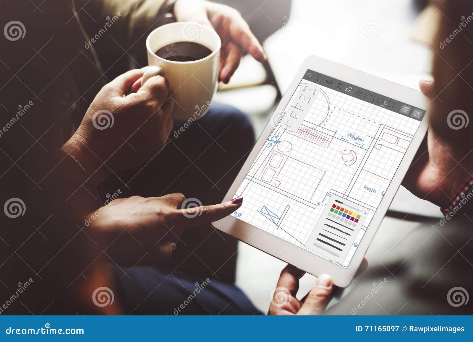 Концепция структуры инженерства Desing светокопии архитектуры