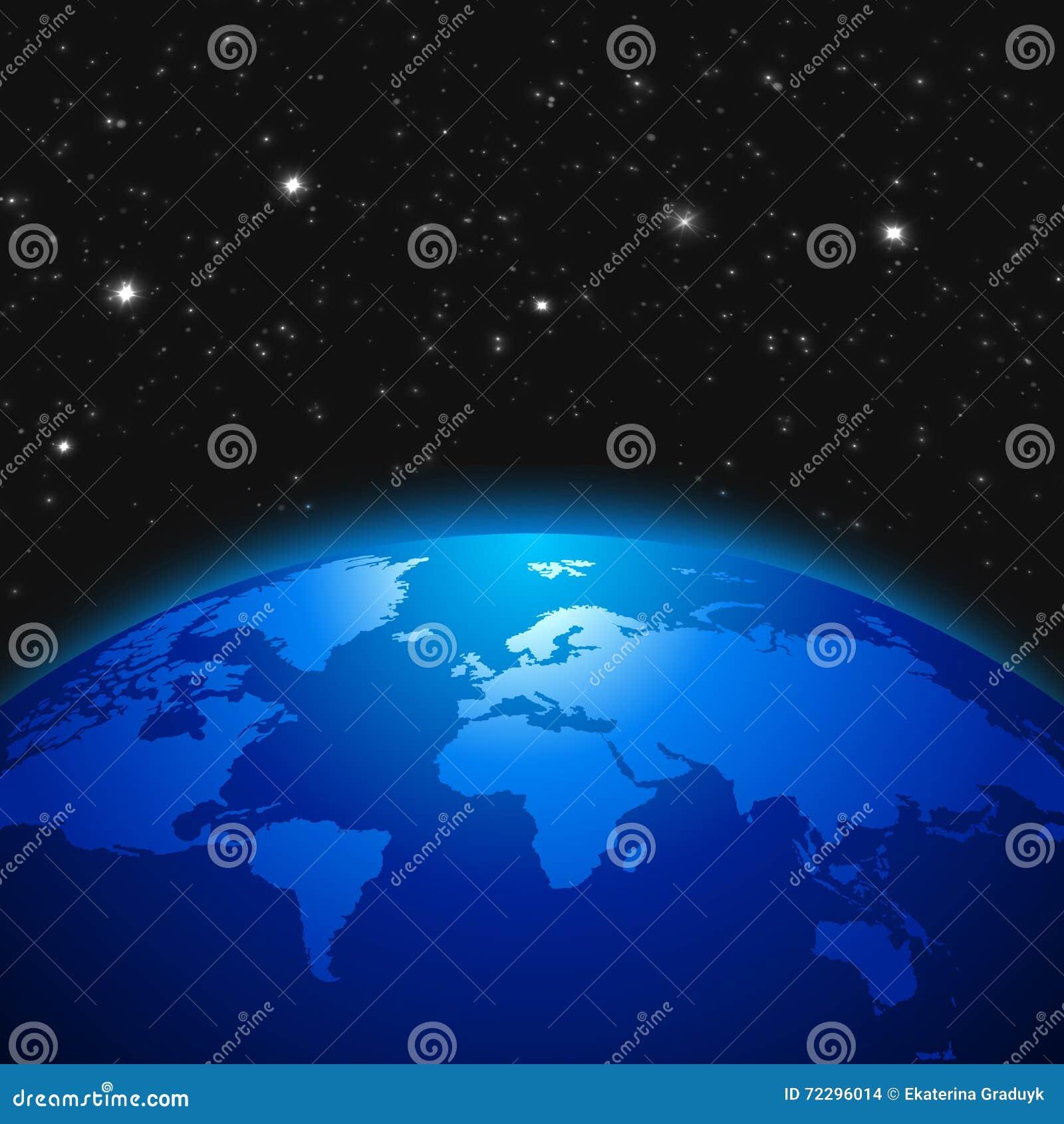 Download Концепция творческой абстрактной глобальной связи научная: разметьте взгляд глобуса планеты земли с картой мира в солнечном Иллюстрация штока - иллюстрации насчитывающей карта, космофизики: 72296014