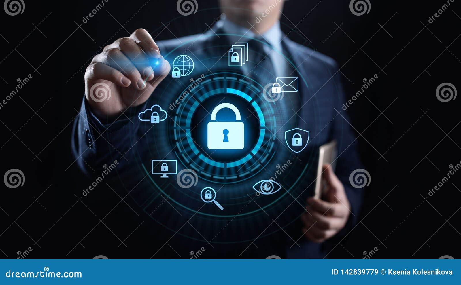 Концепция технологии интернета уединения данным по защиты данных безопасностью кибер