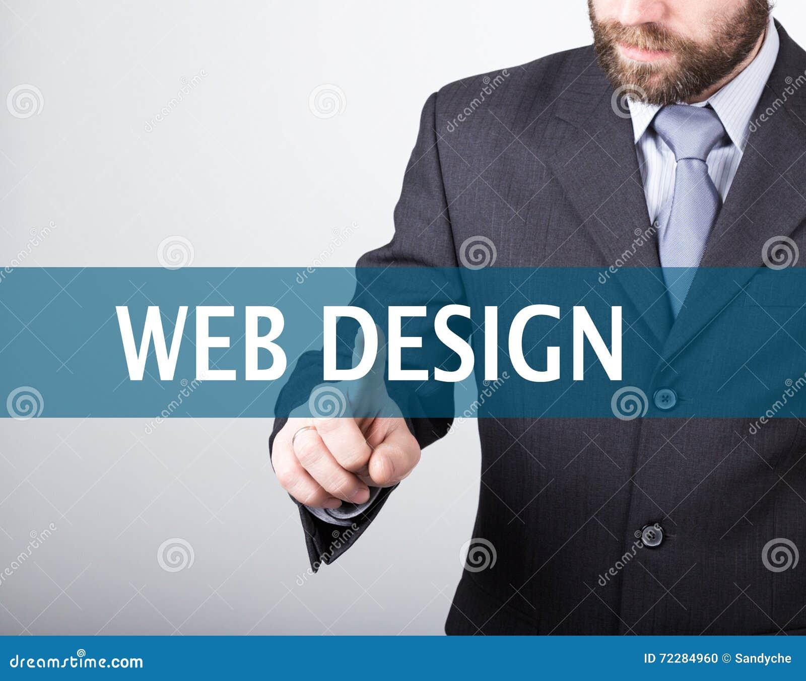 Download Концепция технологии, интернета и сети - бизнесмен отжимает кнопку веб-дизайна на виртуальных экранах Интернет Стоковое Фото - изображение насчитывающей икона, представление: 72284960