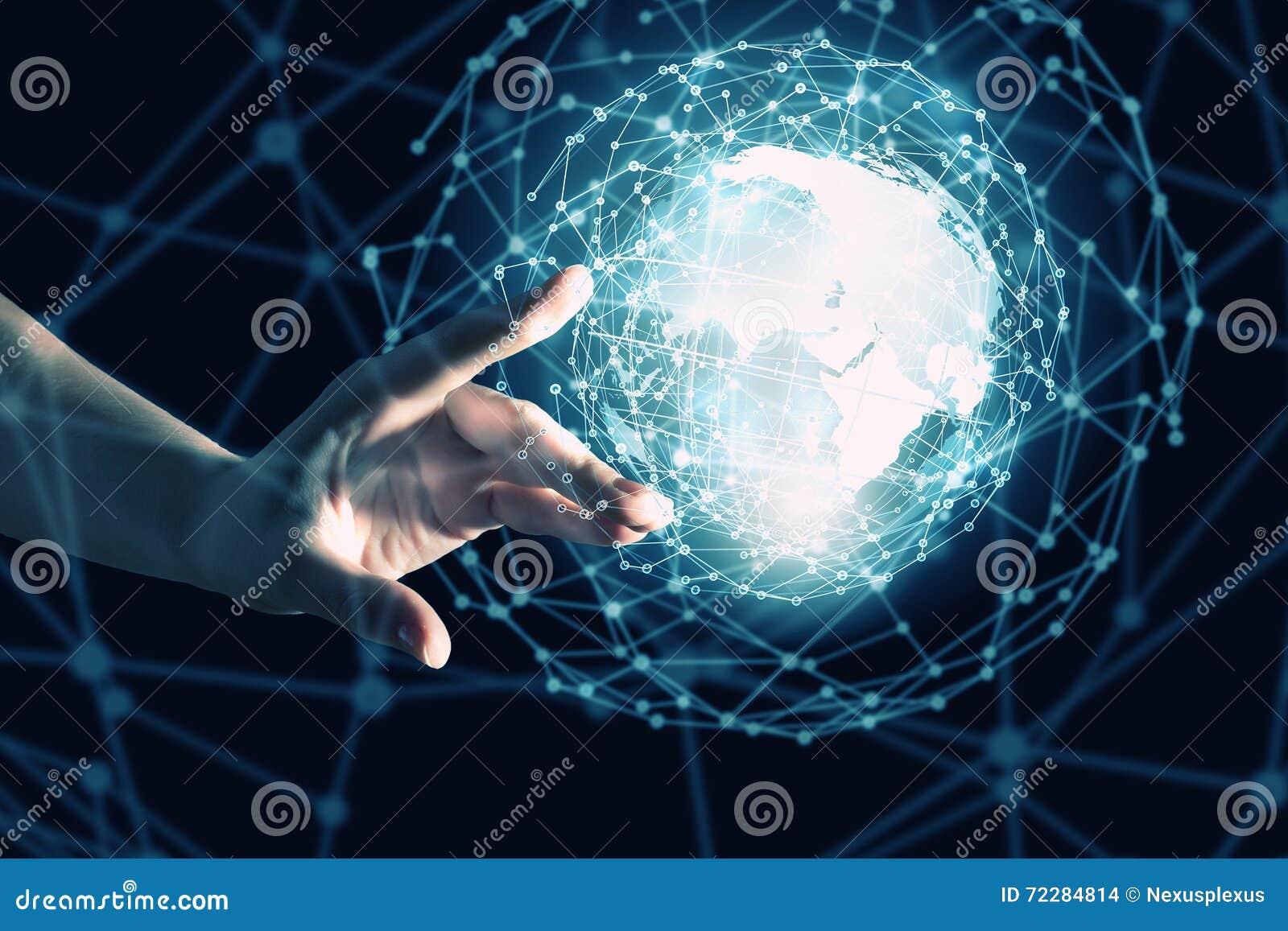Download Концепция технологии средств массовой информации всемирная Стоковое Фото - изображение насчитывающей мужчина, перст: 72284814