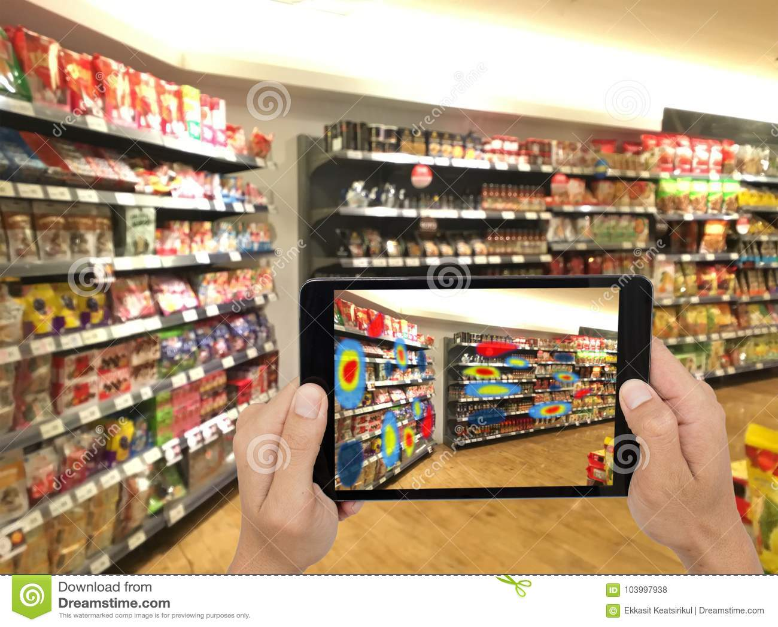 Концепция увеличенная и виртуальная реальность технологии футуристическая, вымачивает