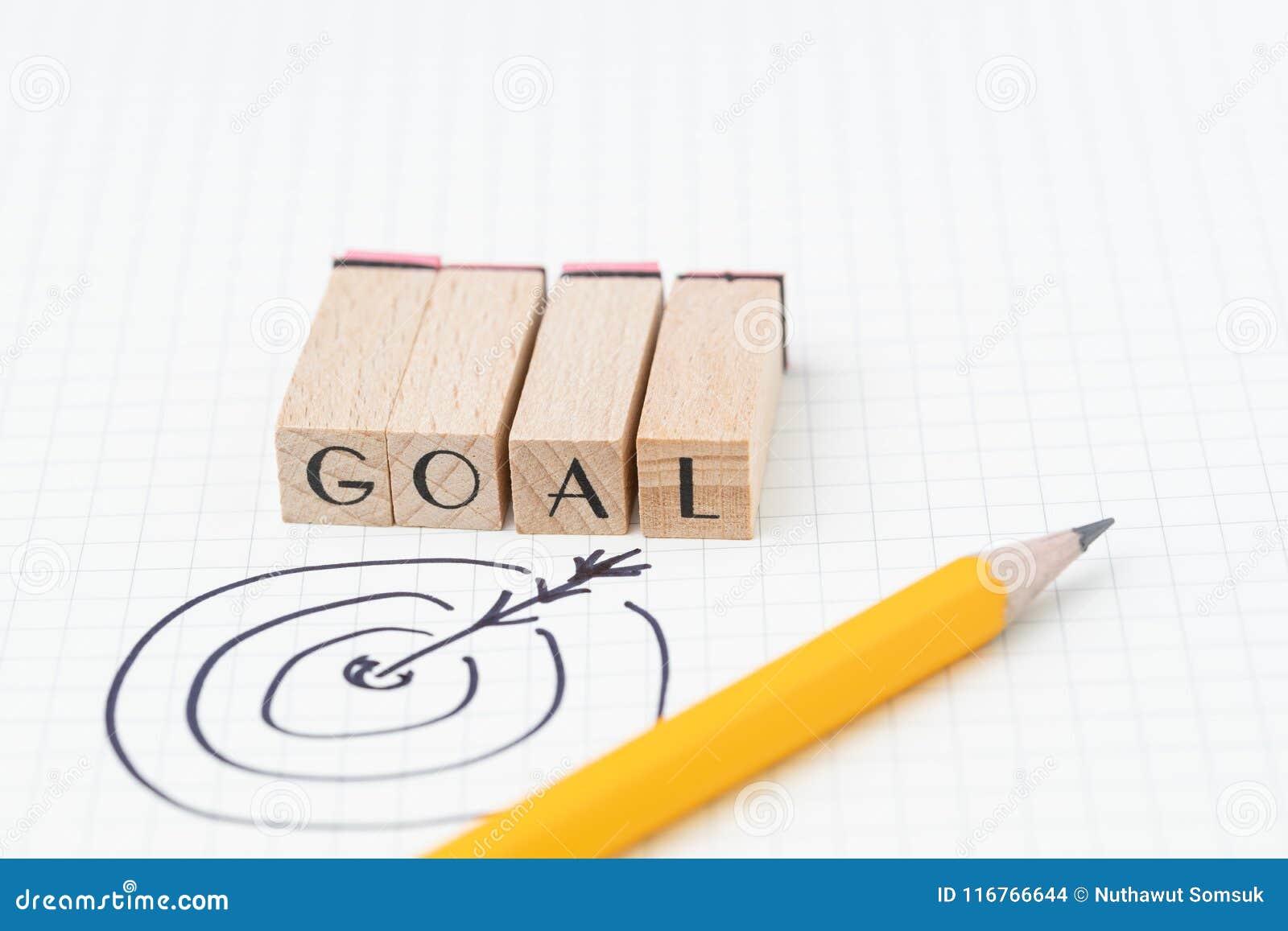 Концепция цели бизнеса, цели или достижения, dartb чертежа руки