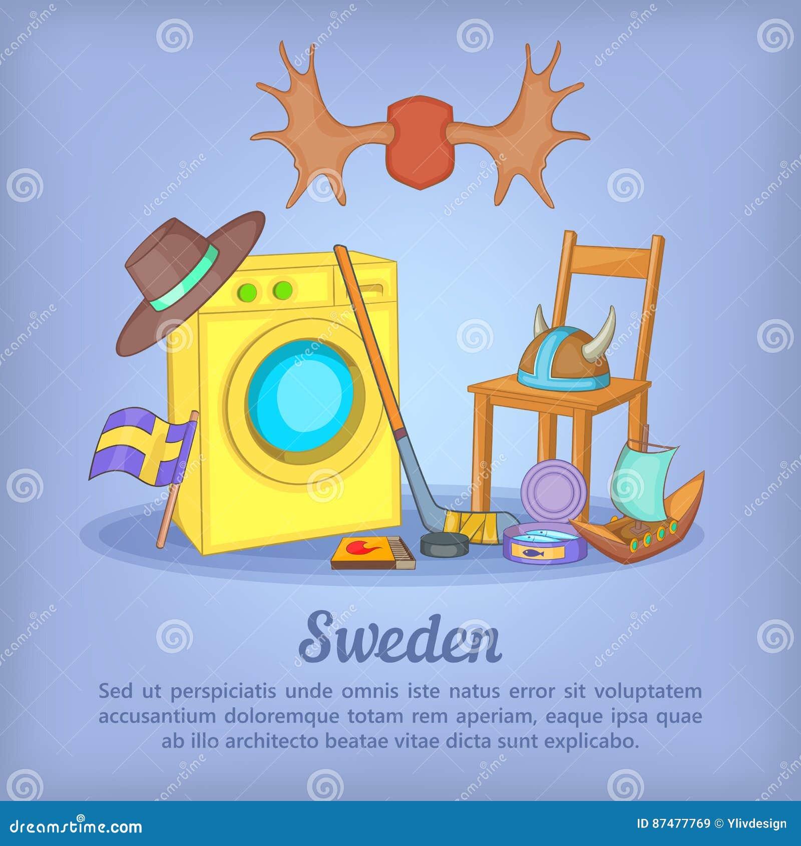 Концепция Швеции, стиль шаржа