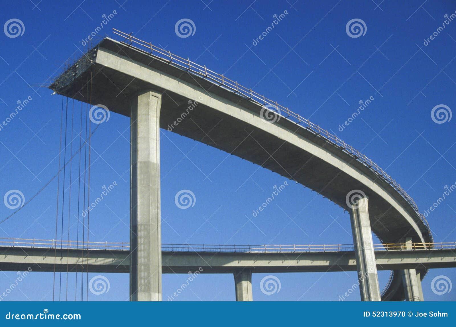 Концы структуры скоростного шоссе бетона скачком с железной поддержкой не будут составлять вставлять вне и рельсы безопасности вы