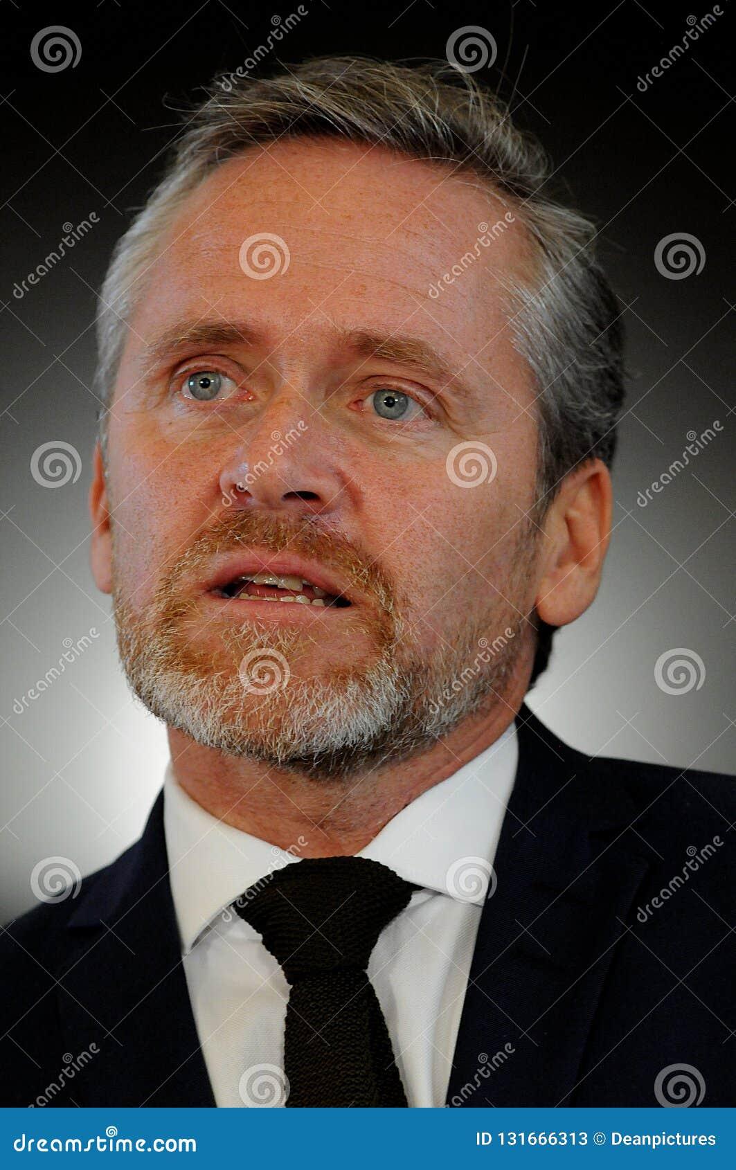 Копенгаген/Дания 15 Ноябрь 2018 3 министра министр Дании Андерса Samuelsen датский для иностранных дел служат для